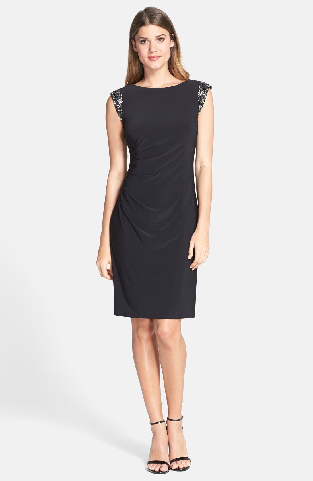 Alternate Image 3  - Eliza J Embellished Back Cutout Sheath Dress