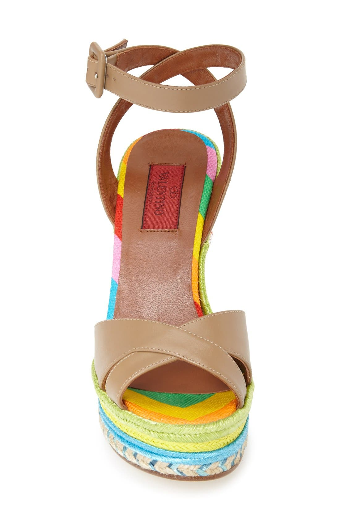 Alternate Image 3  - Valentino Espadrille Wedge Sandal (Women)