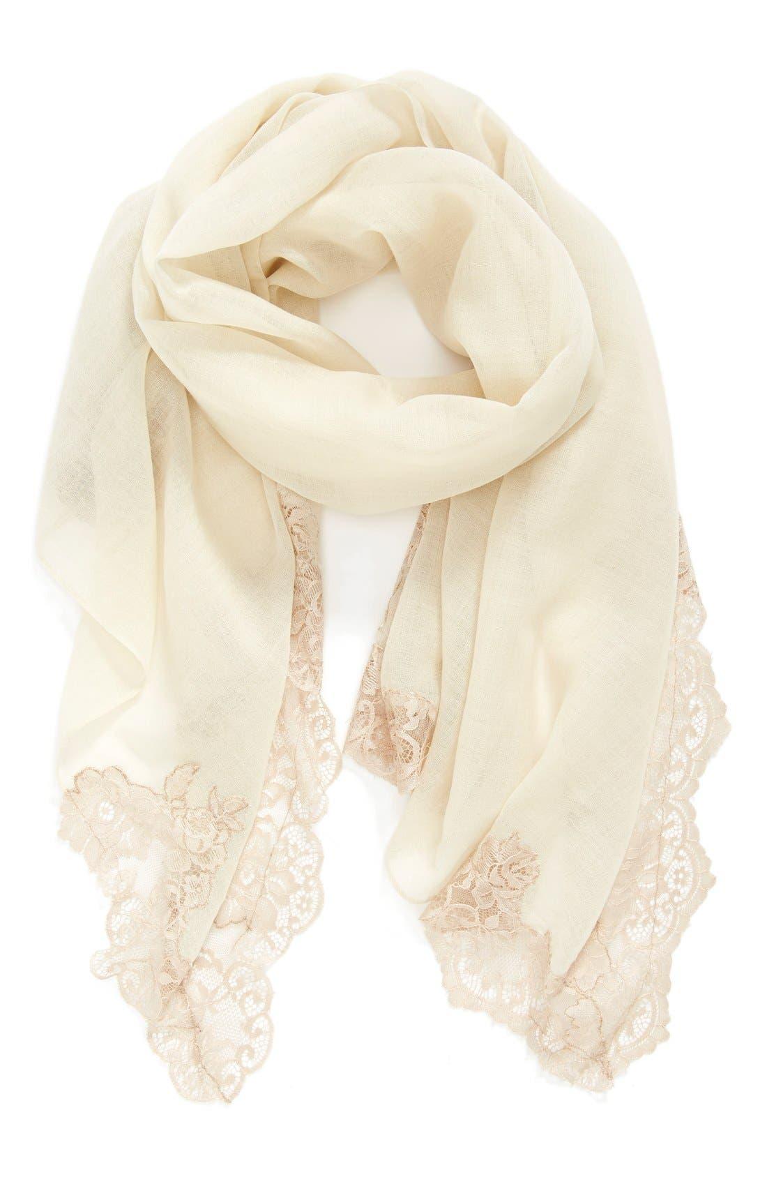 Main Image - Krish Corner Lace Wool Scarf