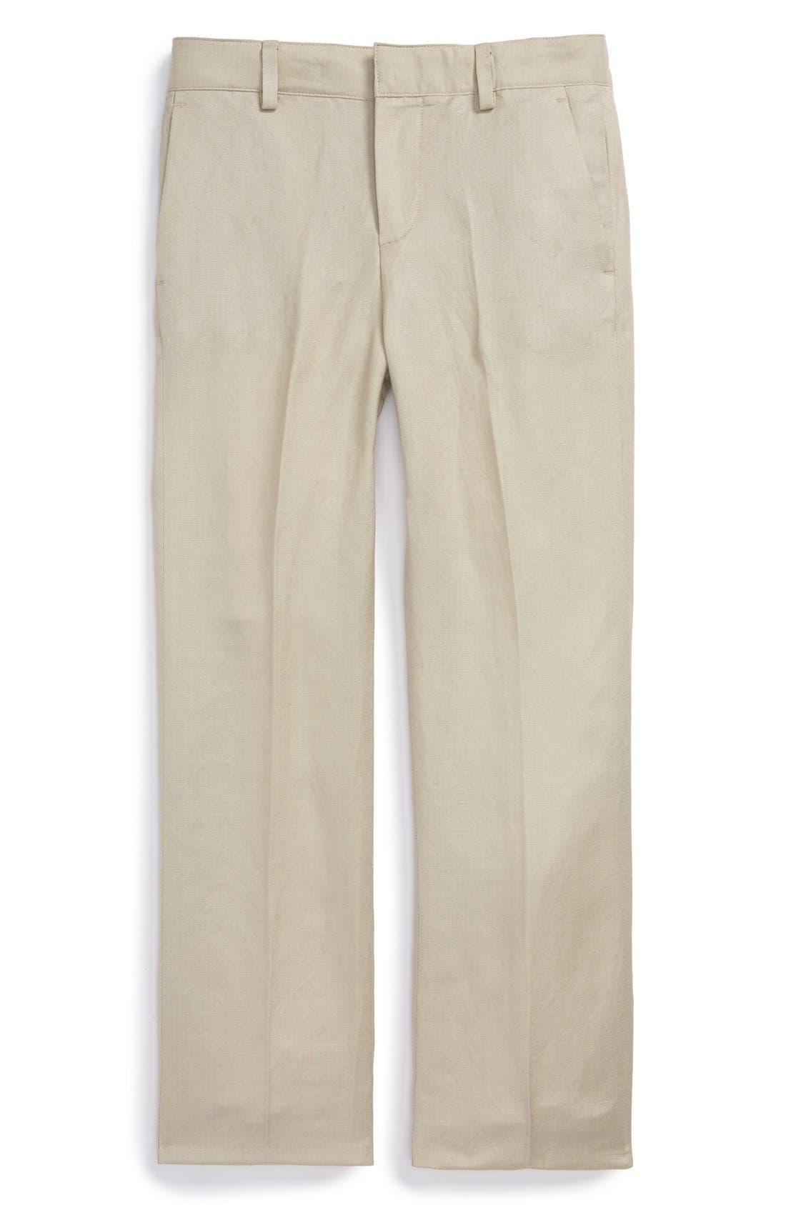 Alternate Image 1 Selected - Nordstrom 'Quentin' Linen Blend Trousers (Toddler Boys, Little Boys & Big Boys)