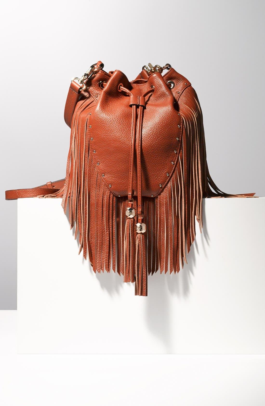 Alternate Image 2  - Dolce Vita 'Amber' Fringe Leather Backpack