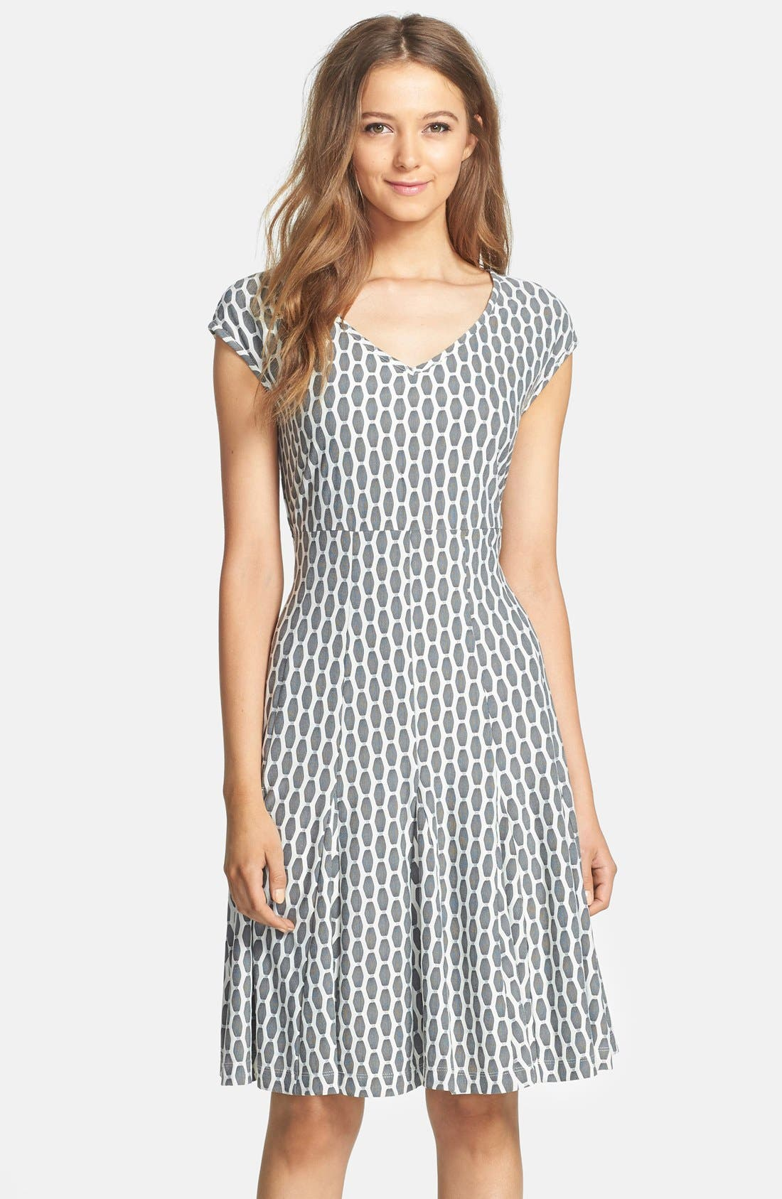 Alternate Image 1 Selected - Taylor Dresses Knit A-Line Dress