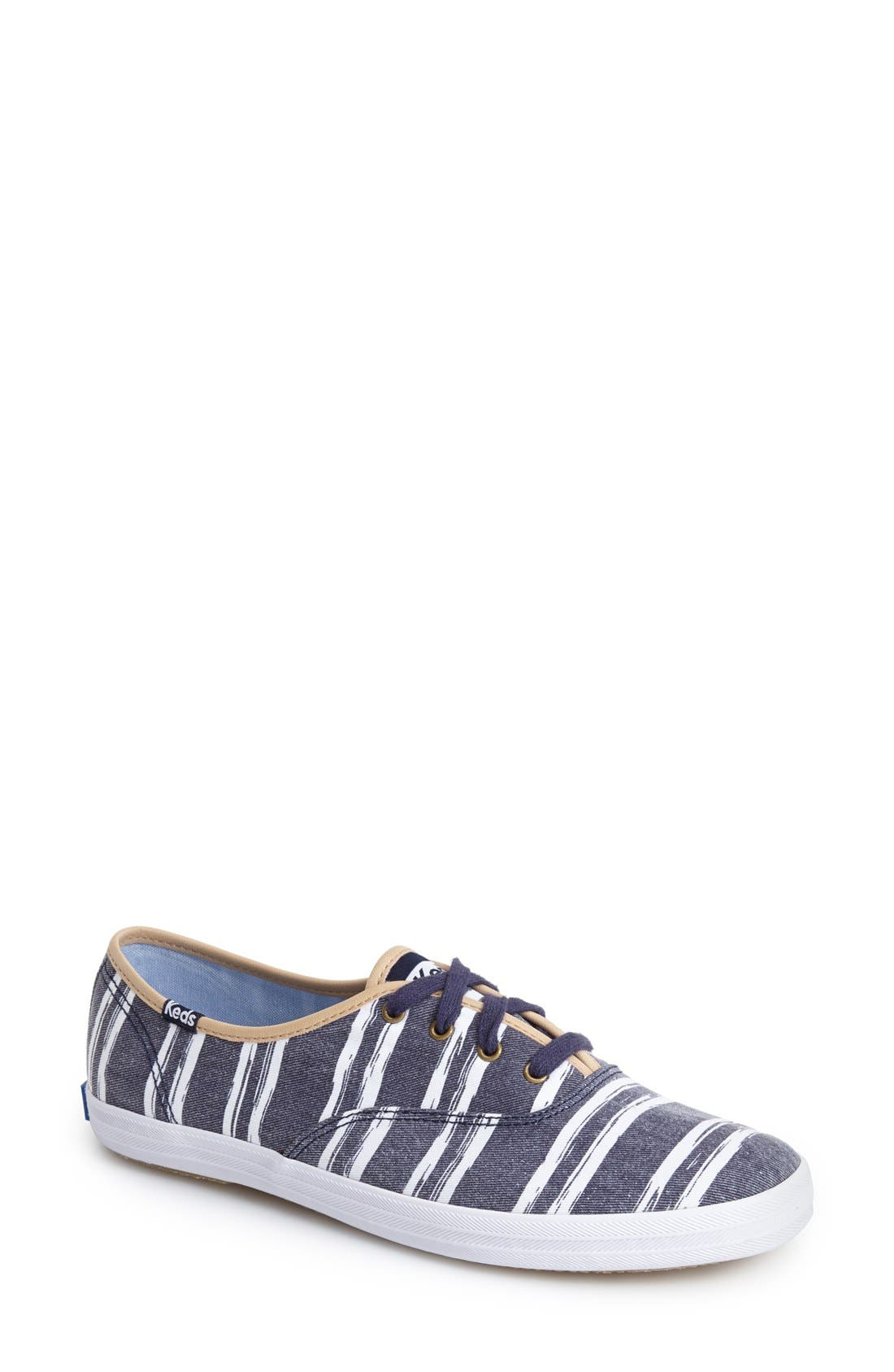 Alternate Image 1 Selected - Keds® 'Champion - Washed Beach Stripe' Sneaker (Women)