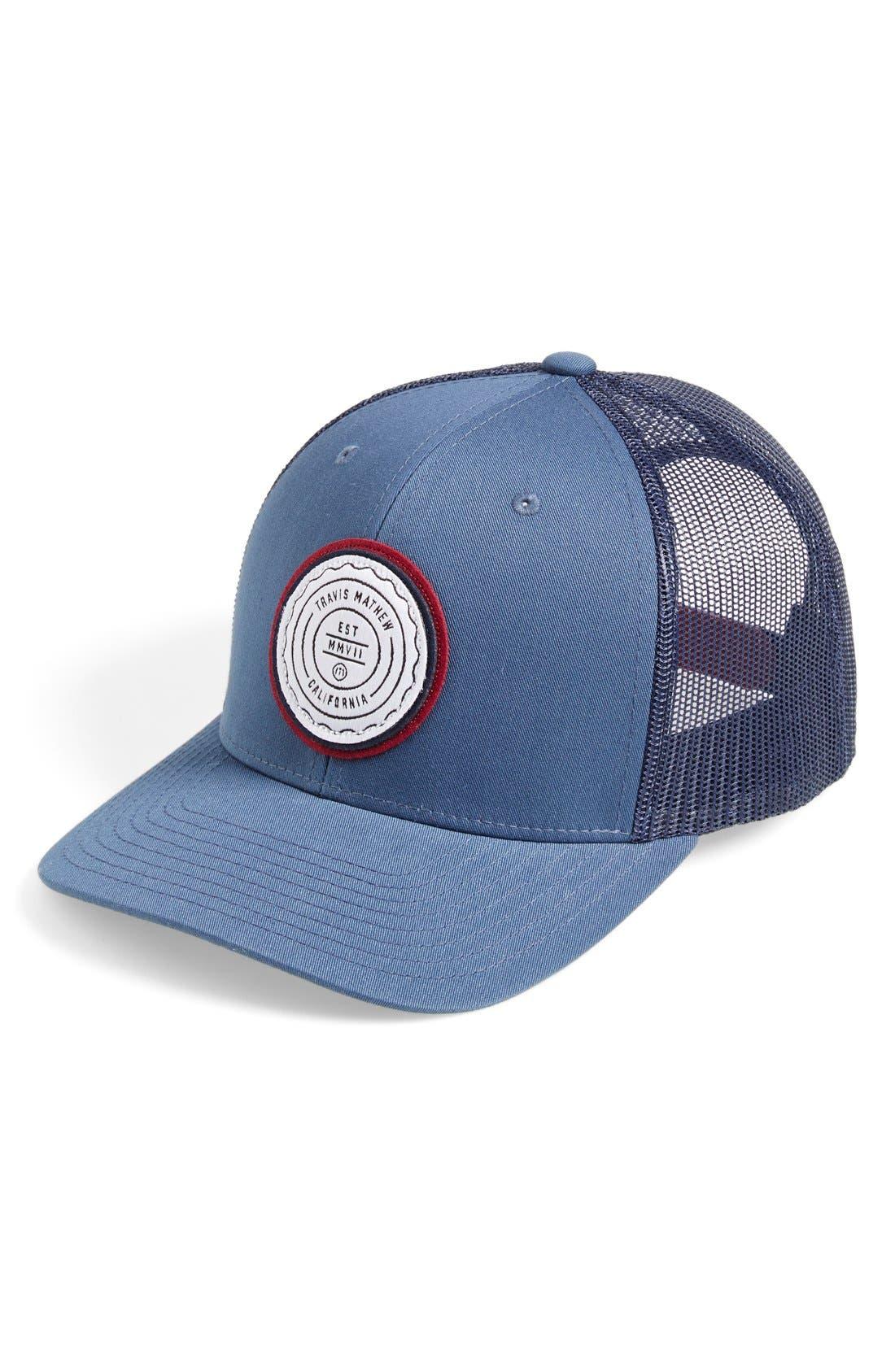 Main Image - Travis Mathew 'Fringe' Trucker Hat