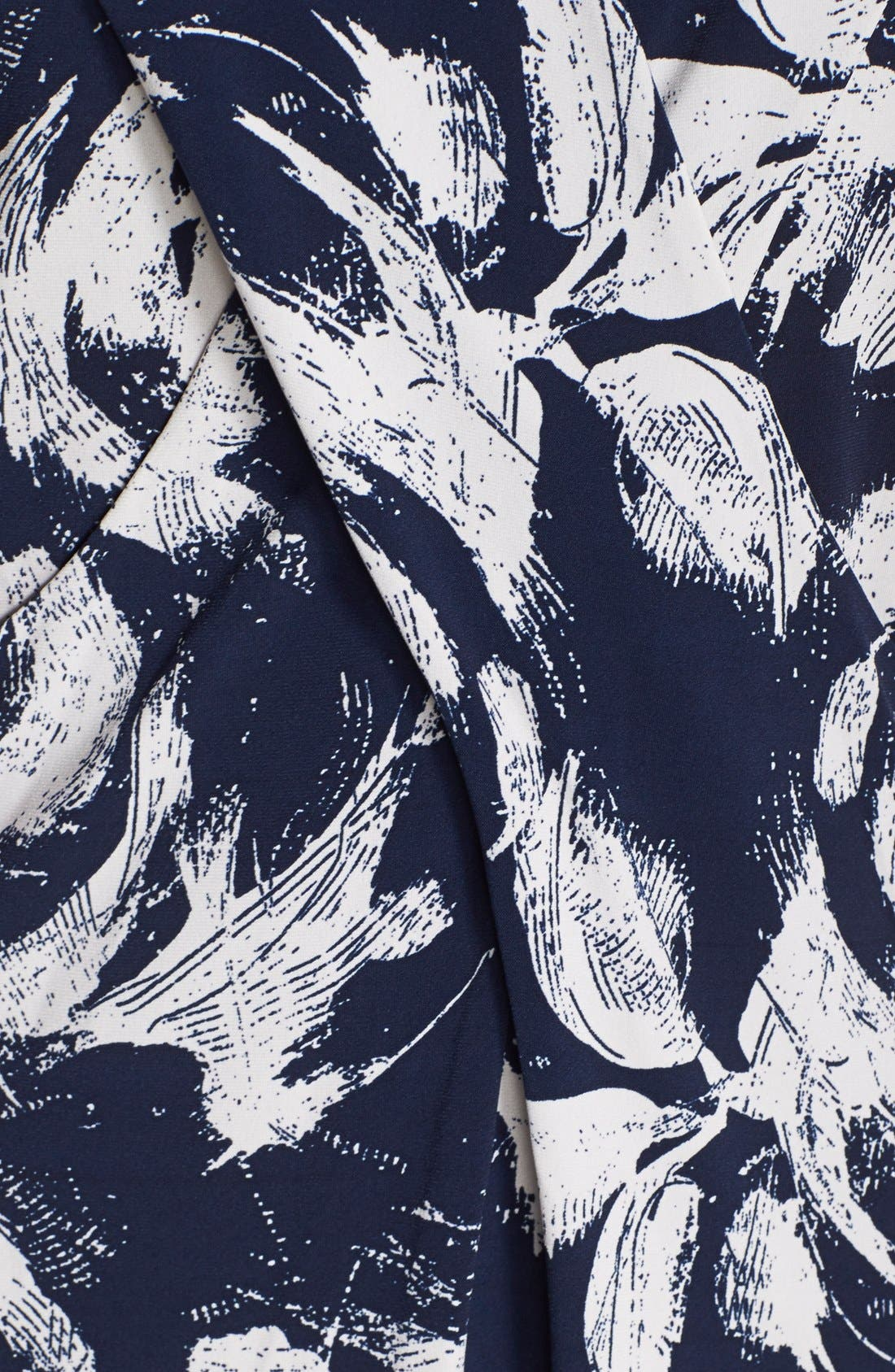 Alternate Image 4  - Marc New York by Andrew Marc Pleat Detail Floral Print Shift Dress
