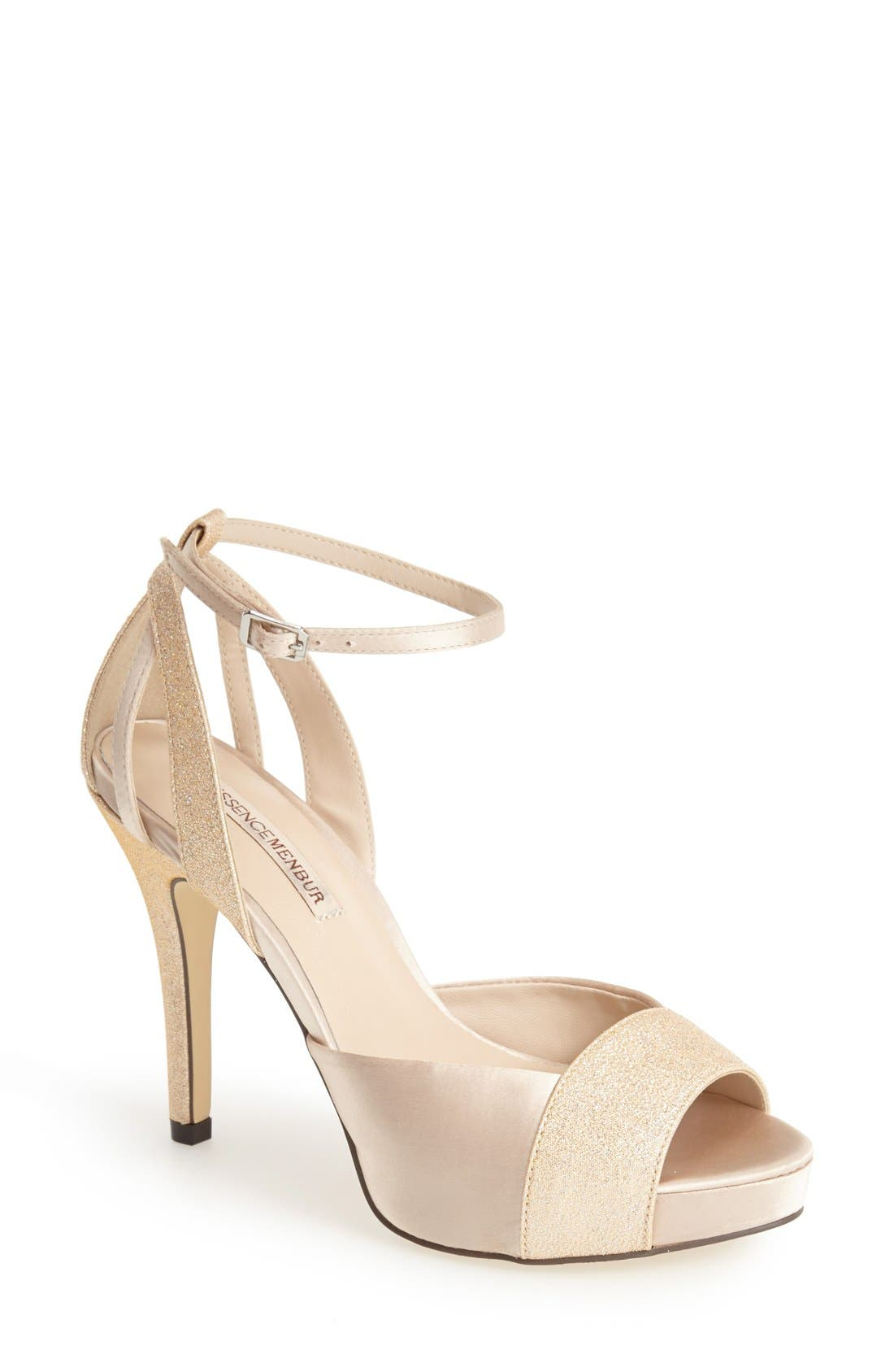 MENBUR 'Arenales' Satin Ankle Strap Sandal