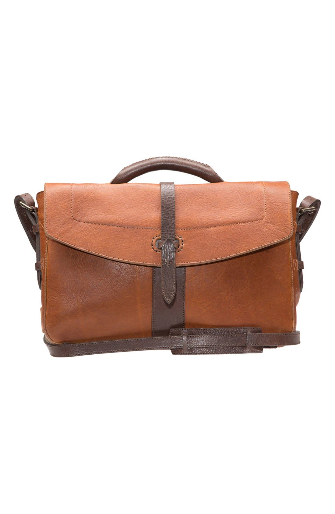 Alternate Image 1 Selected - Will Leather Goods 'Brandon' Leather Messenger Bag