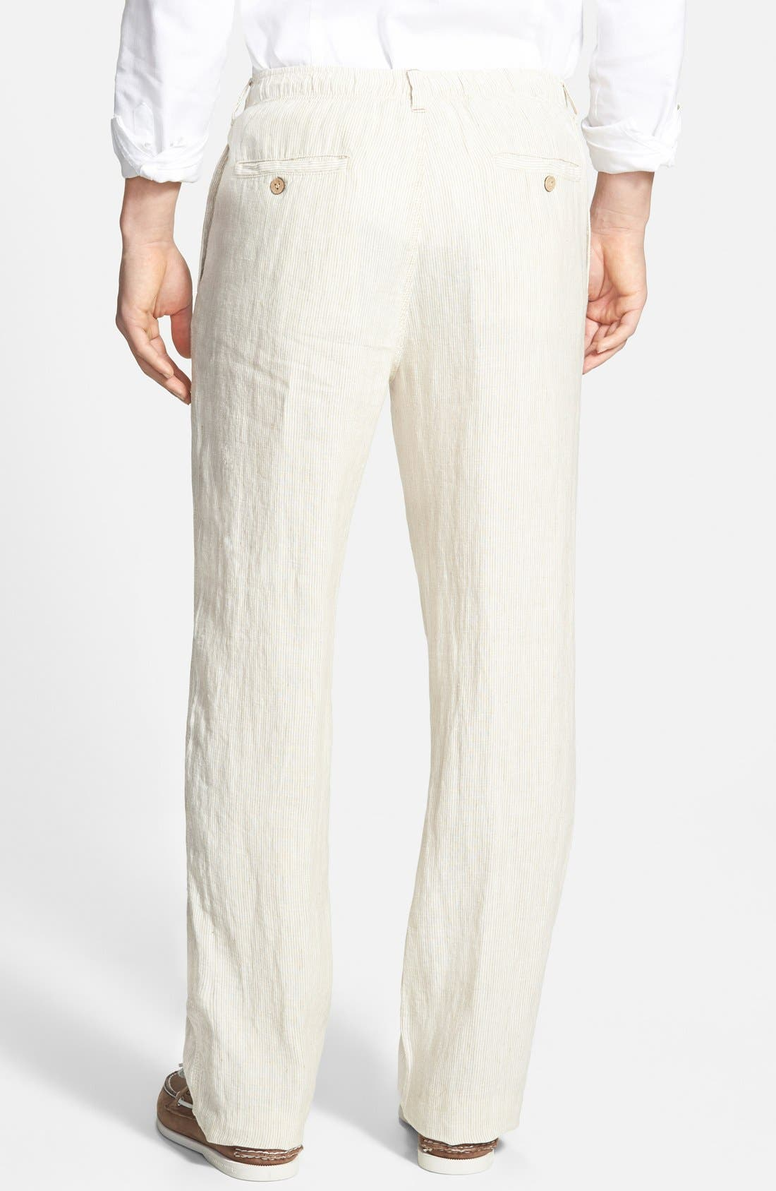 Alternate Image 2  - Tommy Bahama 'Line of the Times' Linen Pants