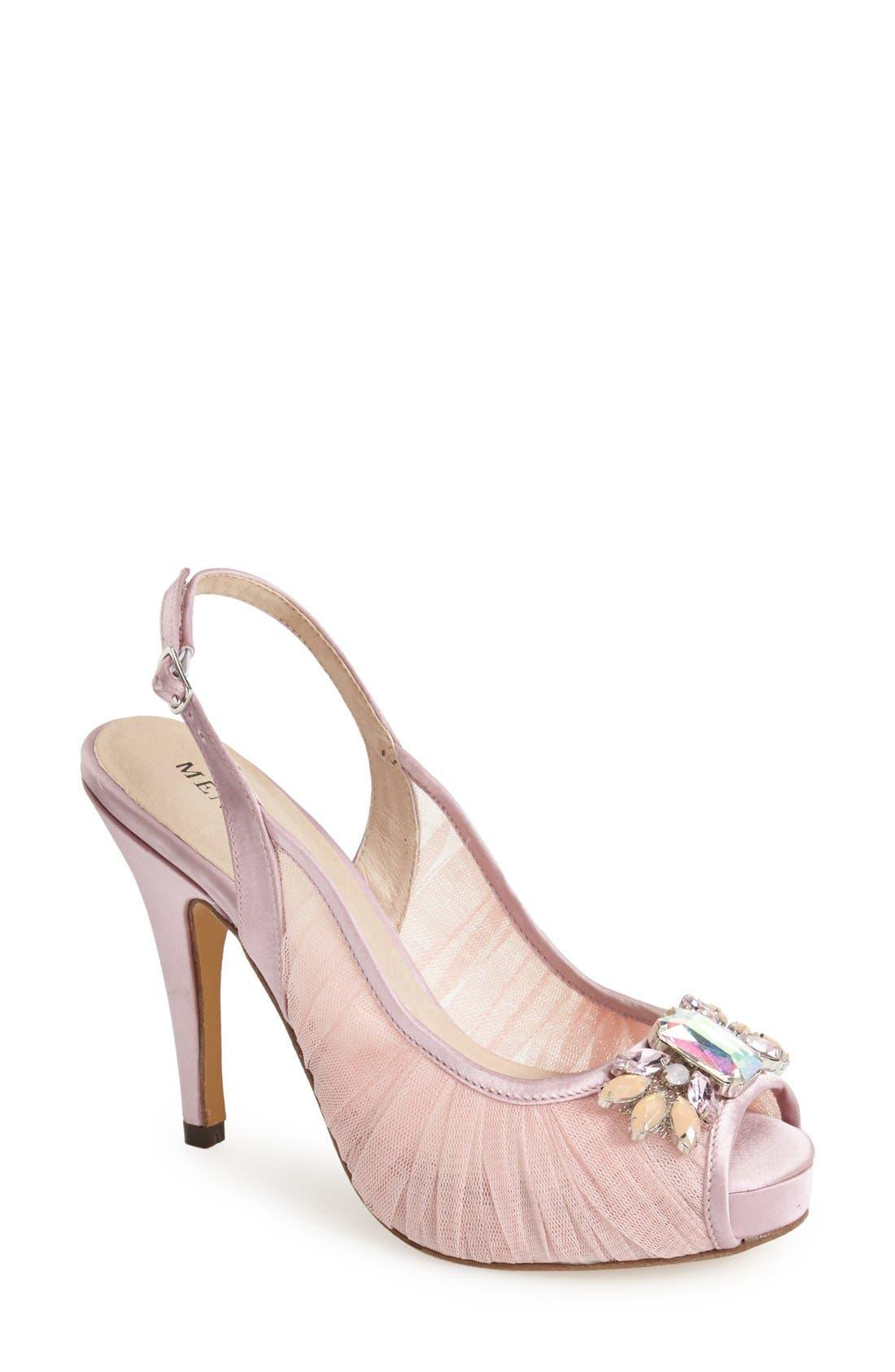 MENBUR 'Albunan' Crystal Slingback Sandal