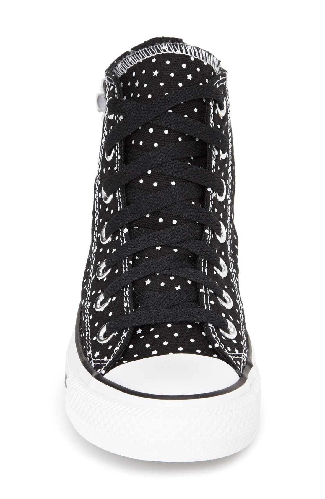 Alternate Image 3  - Converse Chuck Taylor® All Star® 'Floral Polka Dot' High Top Sneaker (Women)