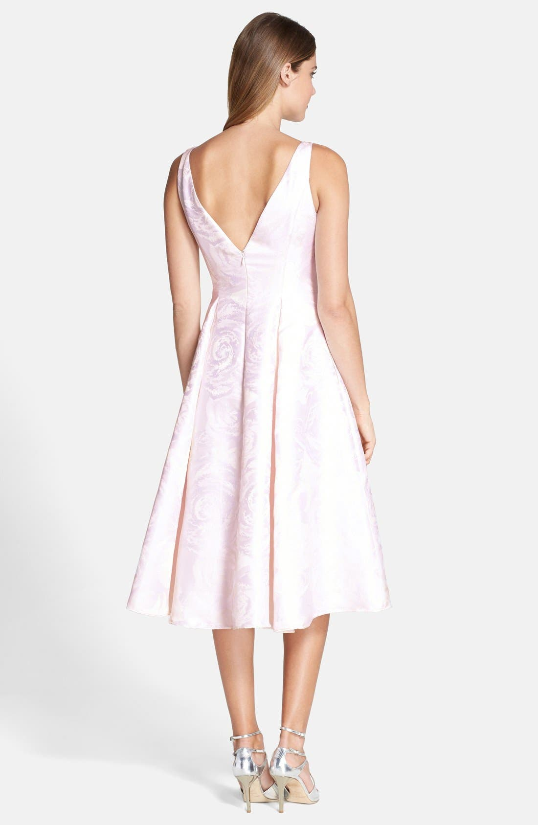 Alternate Image 2  - Adrianna Papell Jacquard Midi Dress (Regular & Petite)