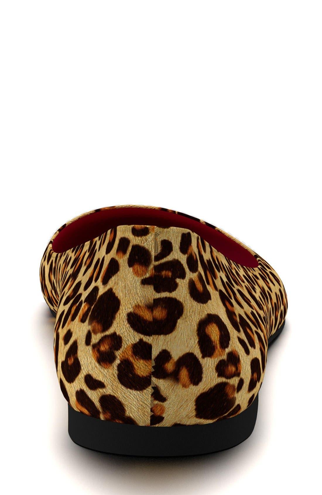 Alternate Image 4  - Shoes of Prey Leopard Genuine Calf Hair Ballet Flat (Women)