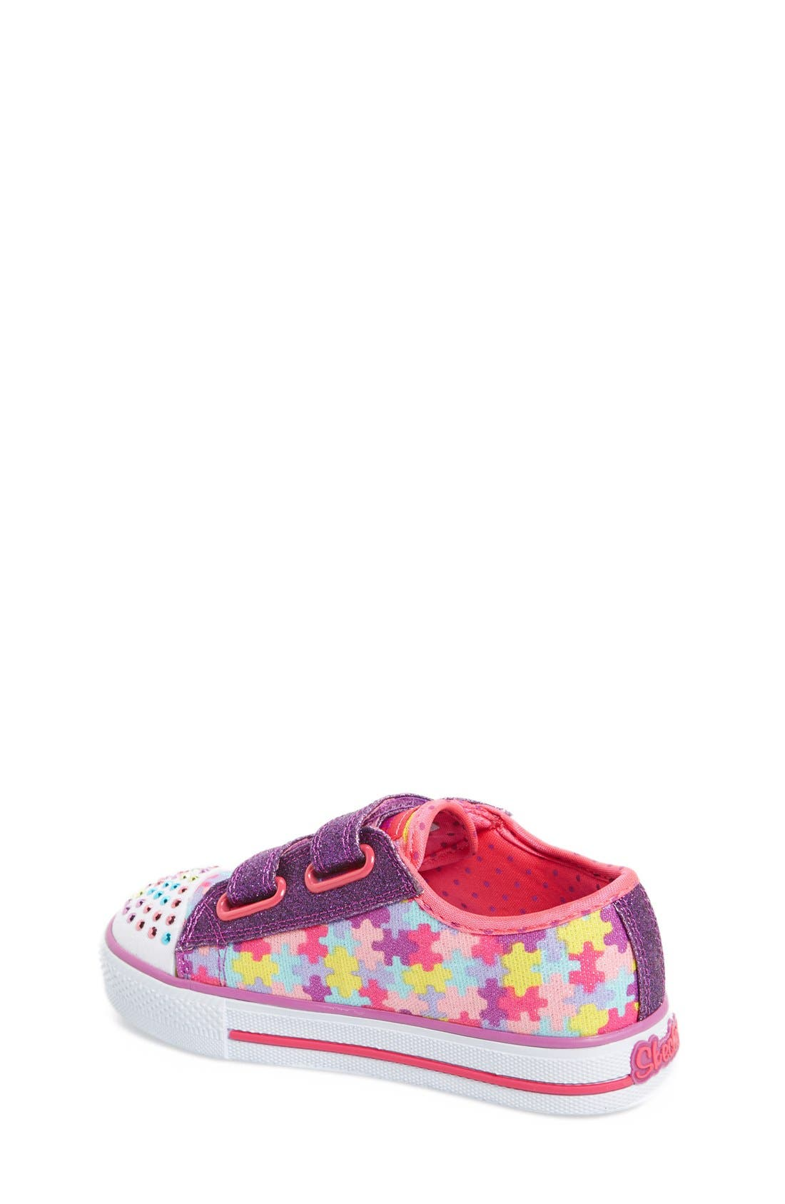 Alternate Image 5  - SKECHERS 'Twinkle Toes - Shuffles Jumpin Jigsaw' Light-Up Sneaker (Toddler)