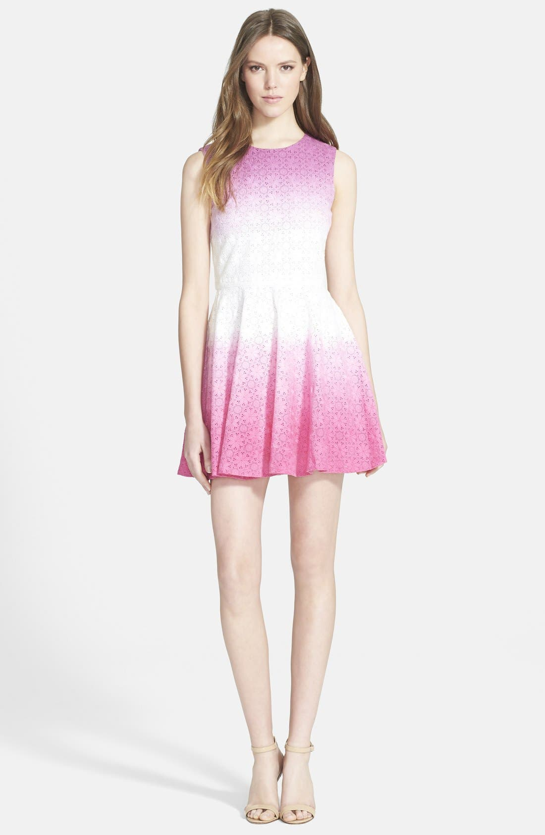 Alternate Image 1 Selected - Diane von Furstenberg 'Jeannie' Eyelet Fit & Flare Dress