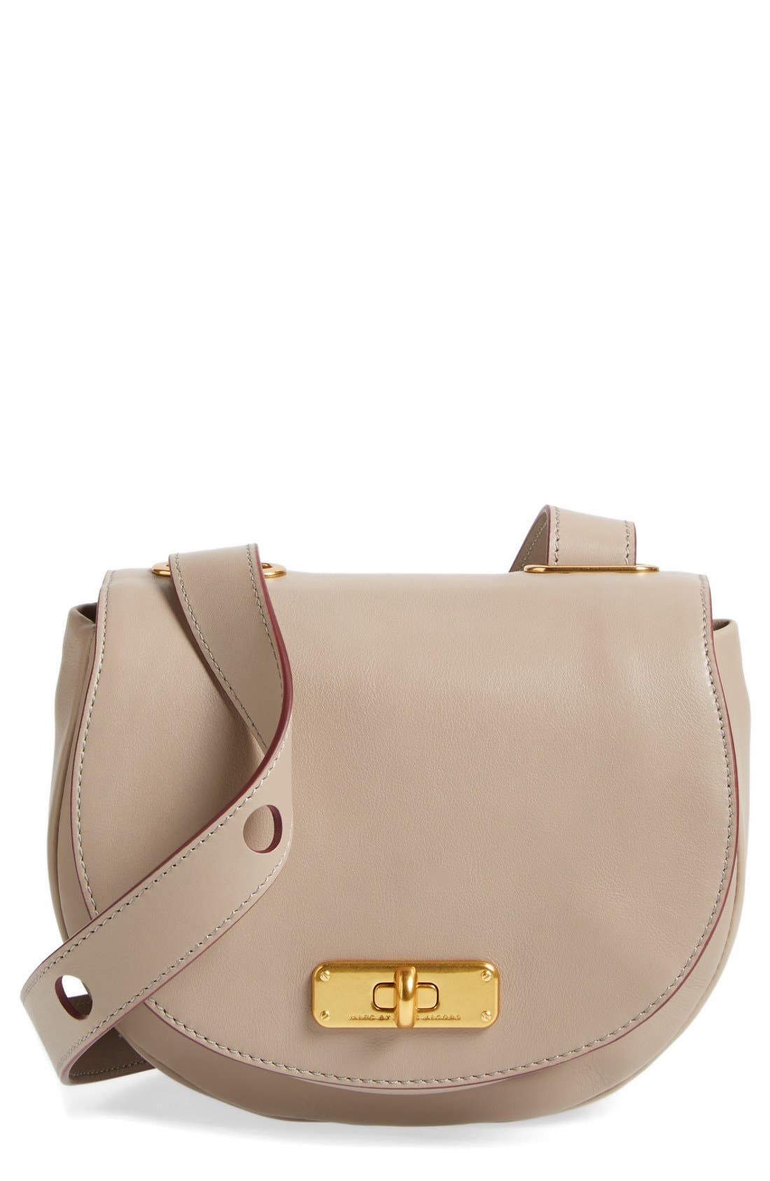 Alternate Image 1 Selected - MARC BY MARC JACOBS 'Donut' Leather Crossbody Bag