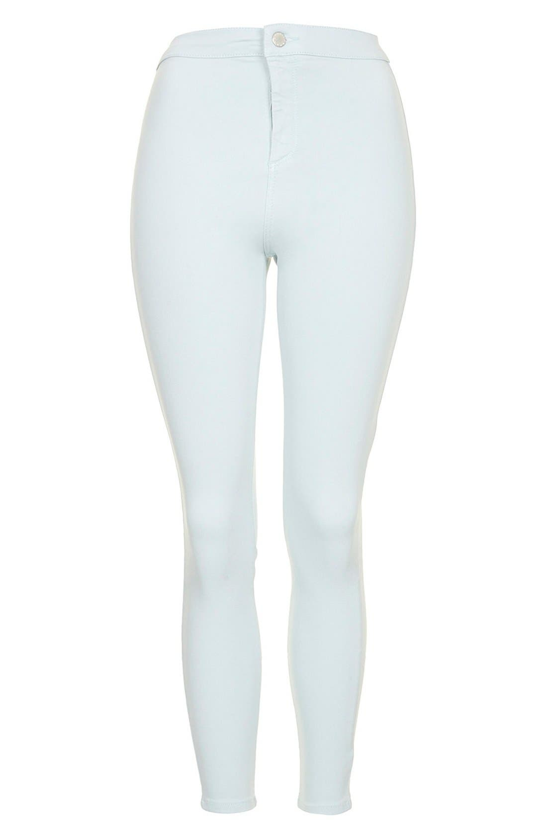 Alternate Image 3  - Topshop Moto 'Joni' High Rise Jeans (Light Blue) (Regular & Short)
