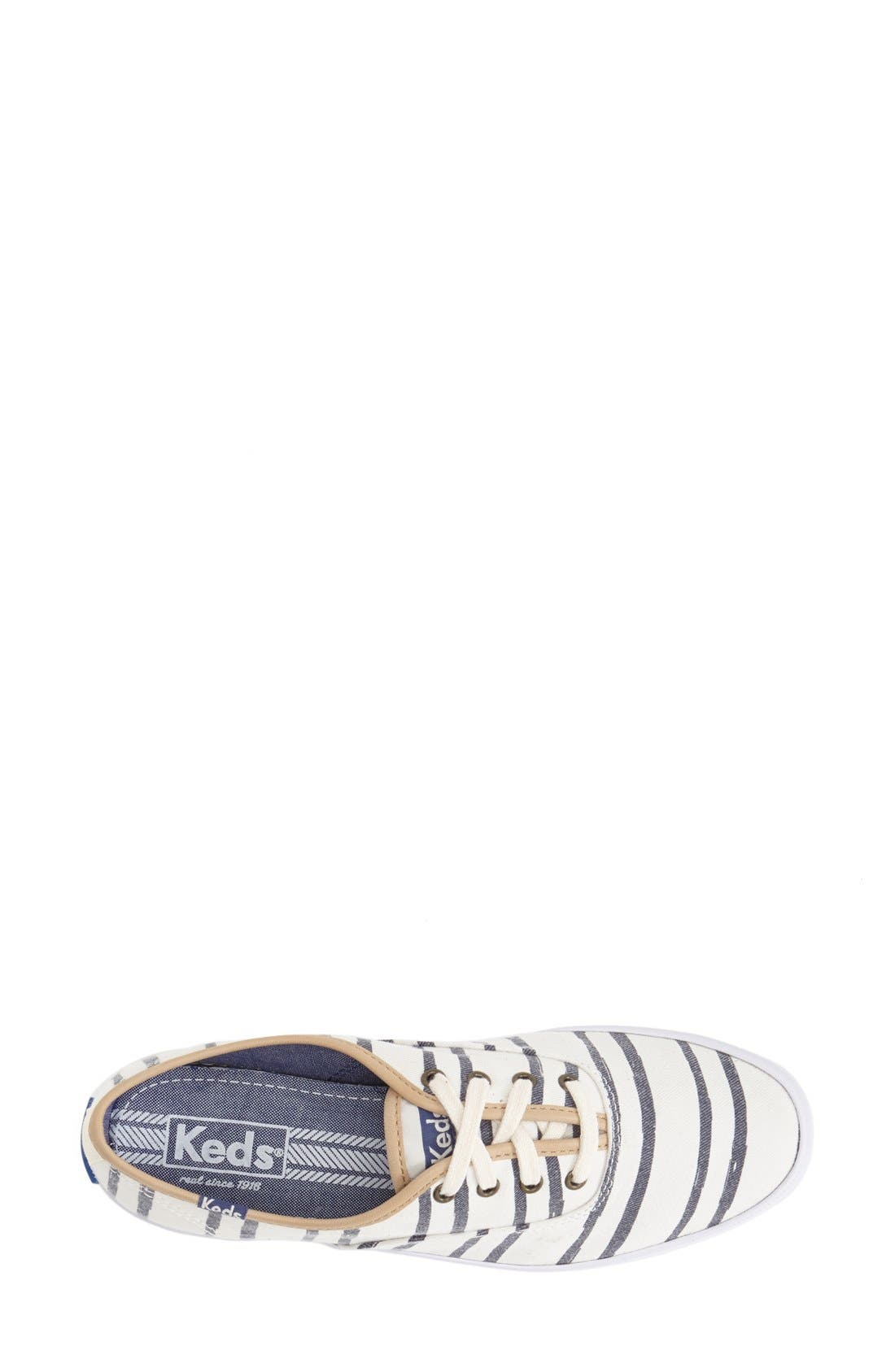 Alternate Image 3  - Keds® 'Champion - Washed Beach Stripe' Sneaker (Women)