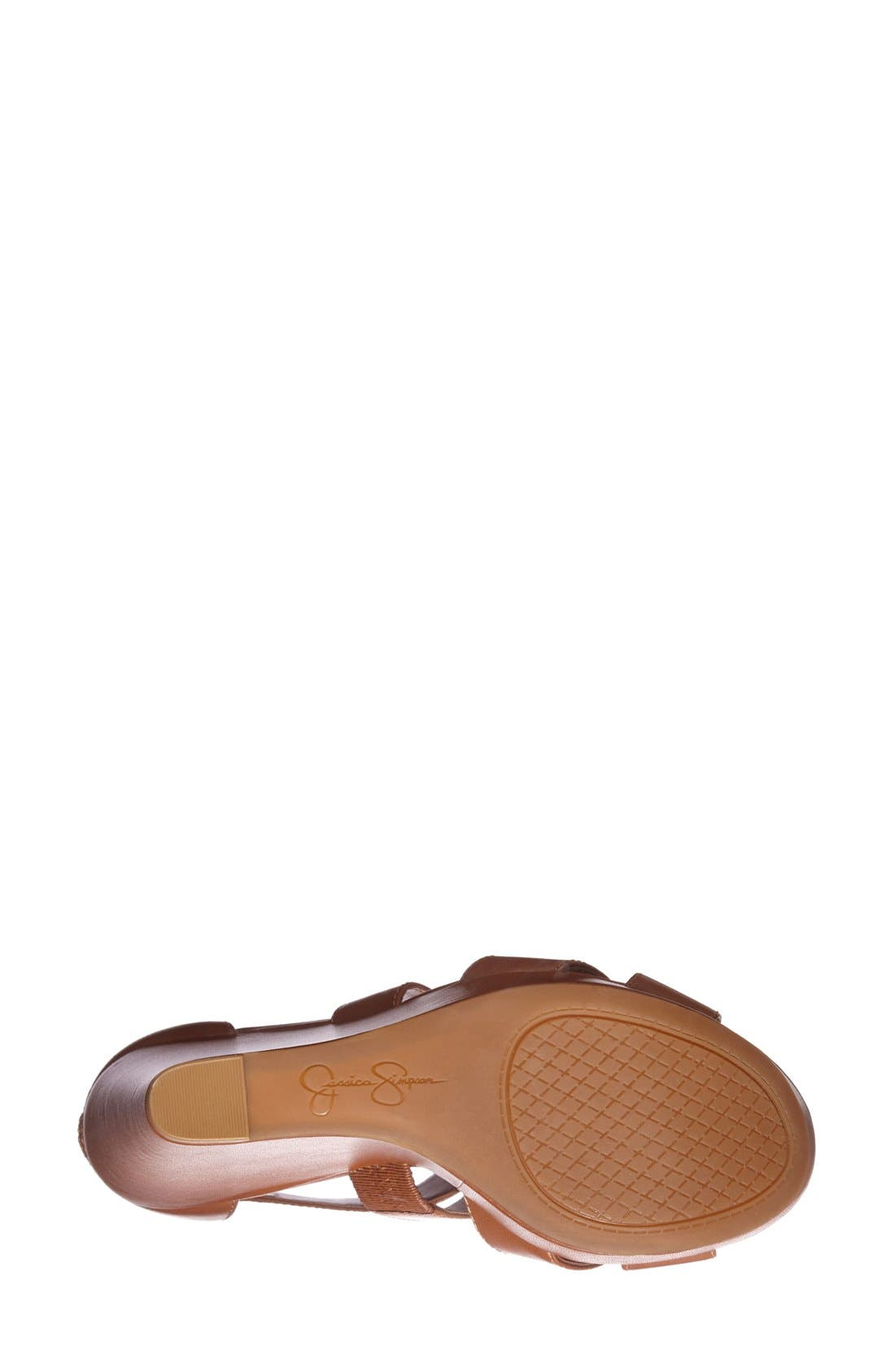 Alternate Image 4  - Jessica Simpson 'Jadyn' Strappy Wedge Sandal (Women)