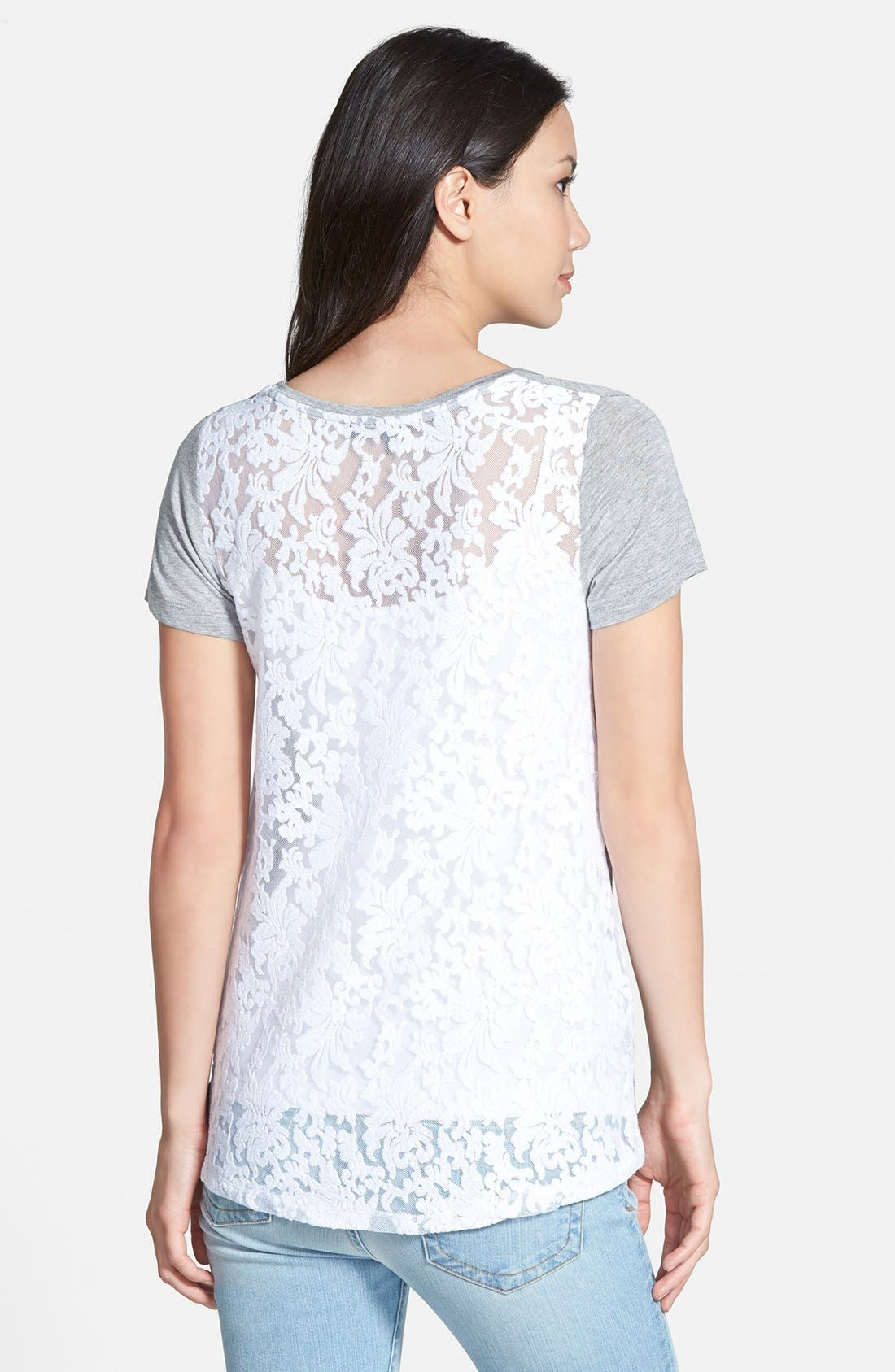 Alternate Image 1 Selected - Dex Lace Back Tee