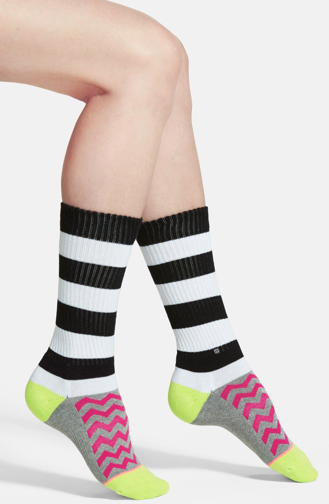 Main Image - Stance 'Evermore' Stripe & Chevron Crew Socks
