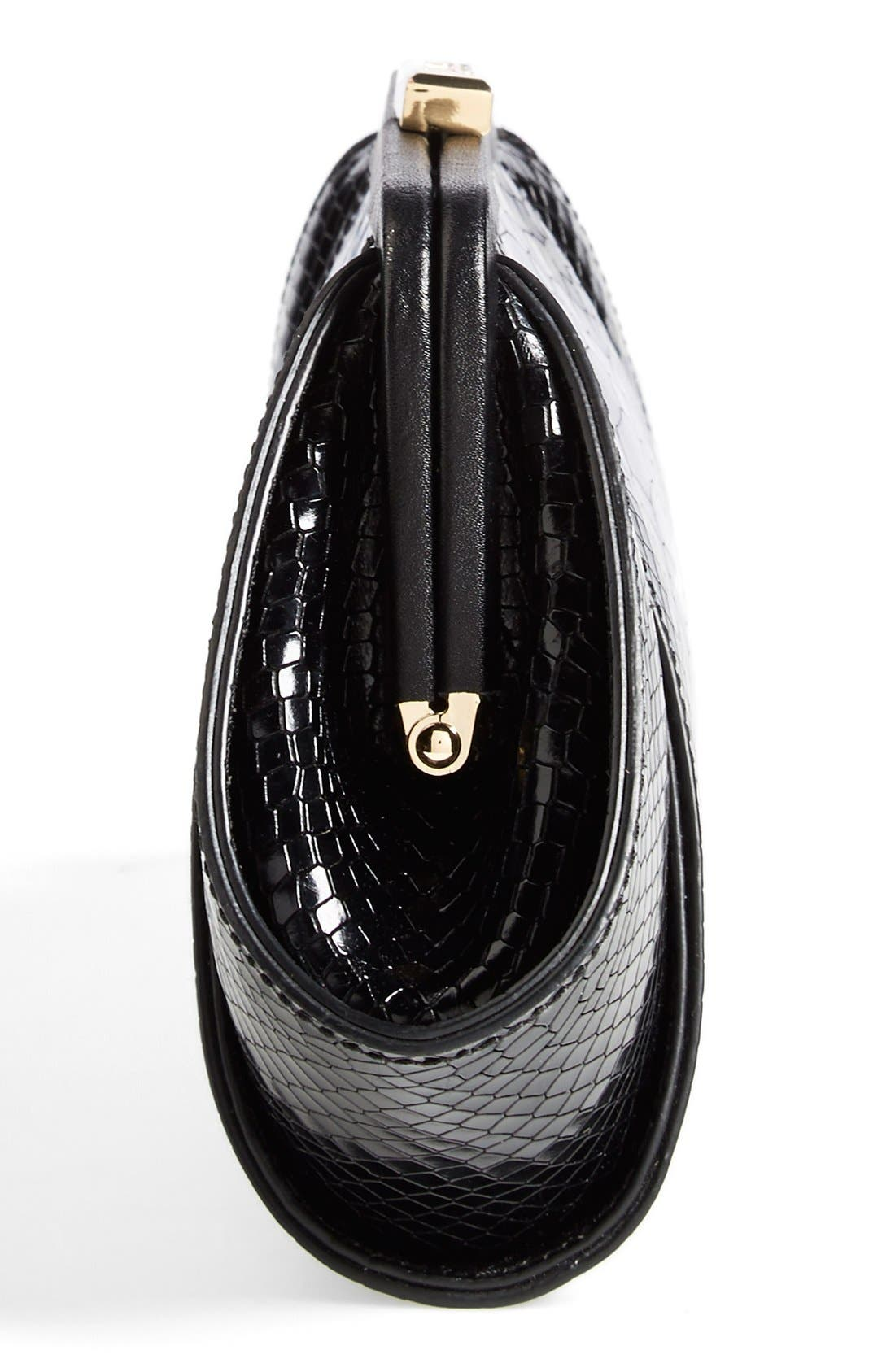Alternate Image 5  - ZAC Zac Posen 'Posen' Snake Embossed Leather Clutch