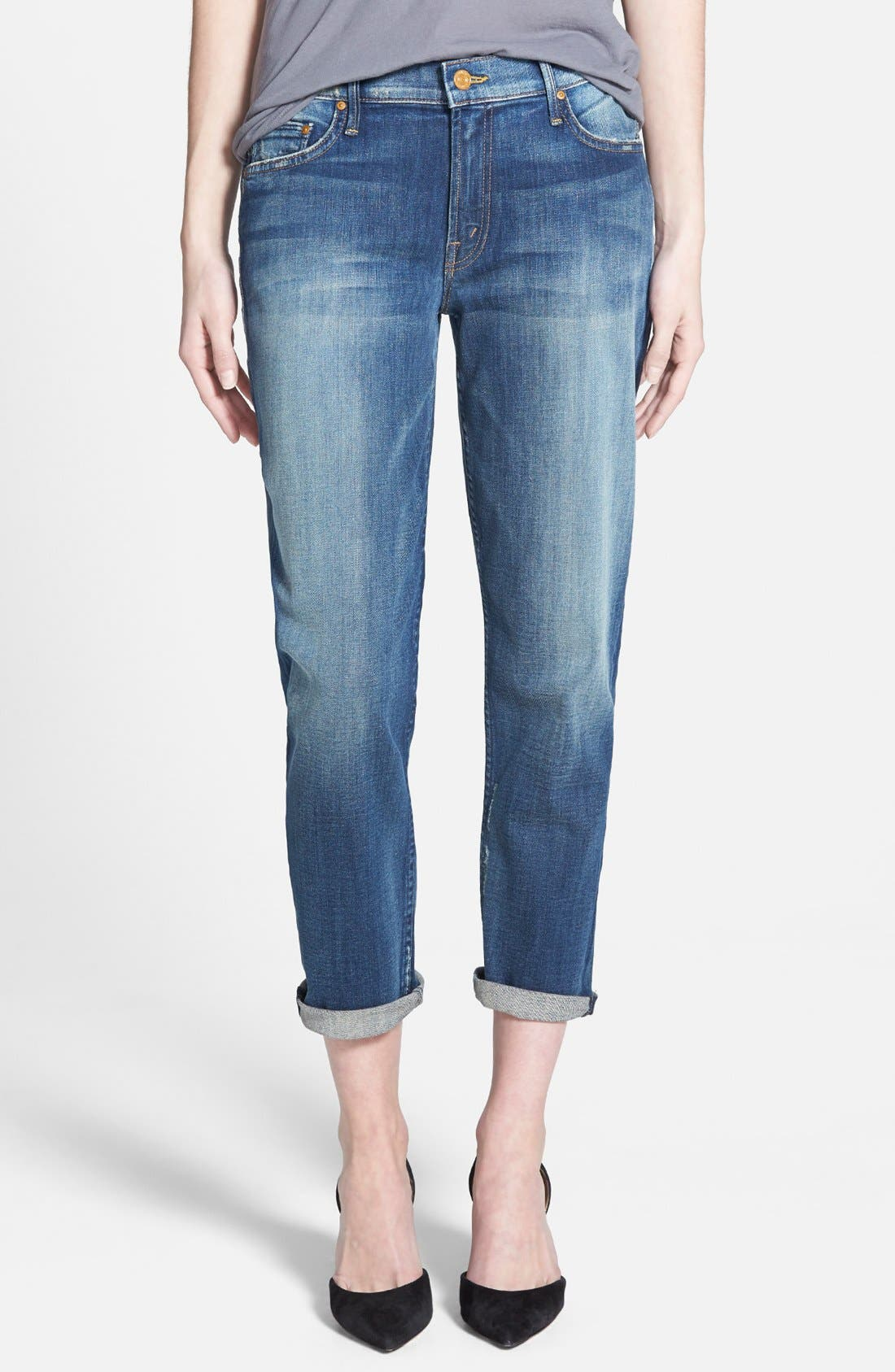 Alternate Image 1 Selected - MOTHER 'The Drop Out' Jeans (Tequila Truth)