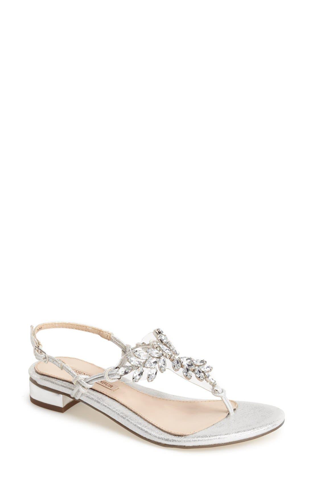 MENBUR 'Delia' Crystal Thong Sandal