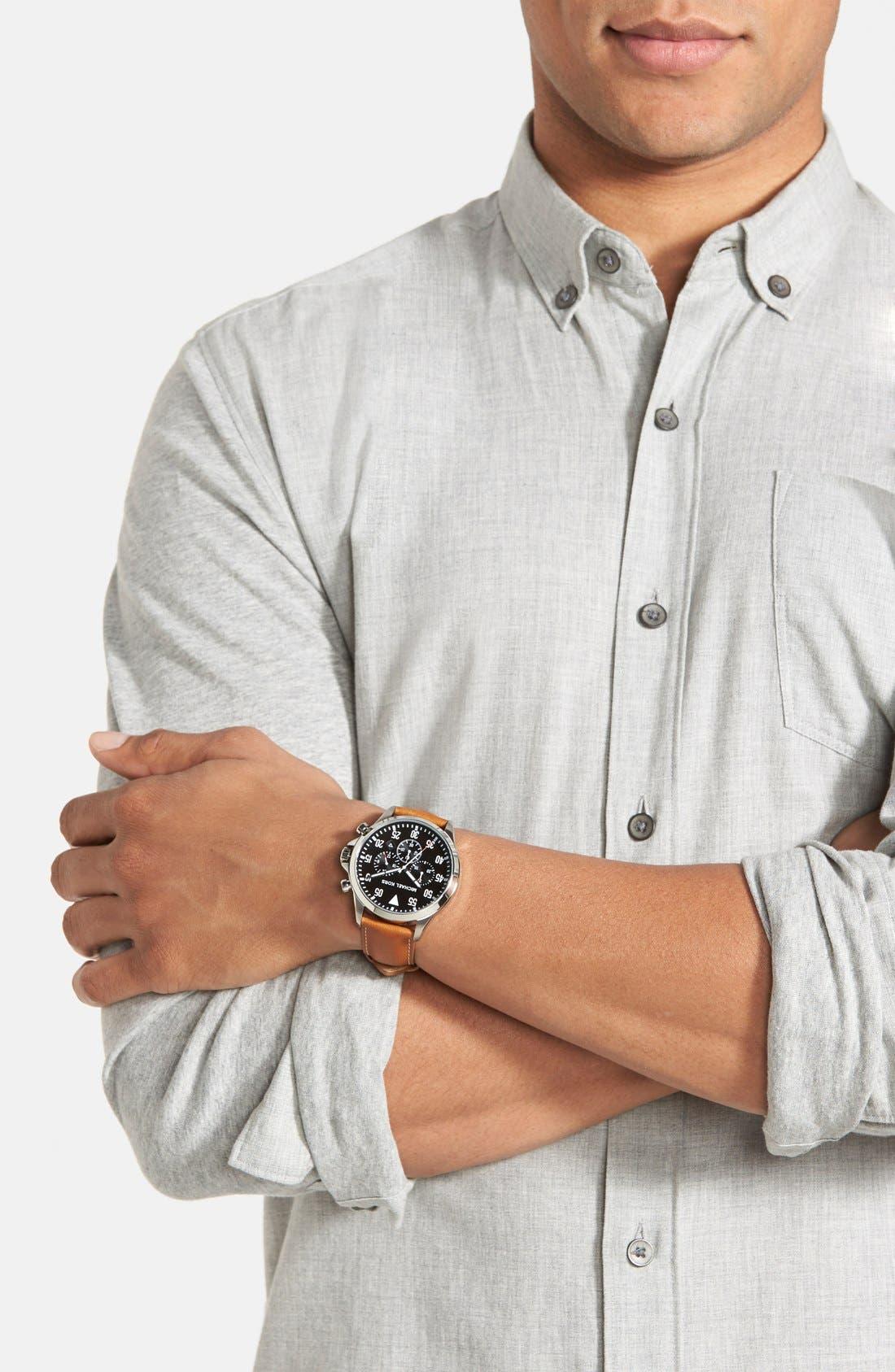 Alternate Image 5  - Michael Kors 'Gage' Chronograph Leather Strap Watch, 45mm