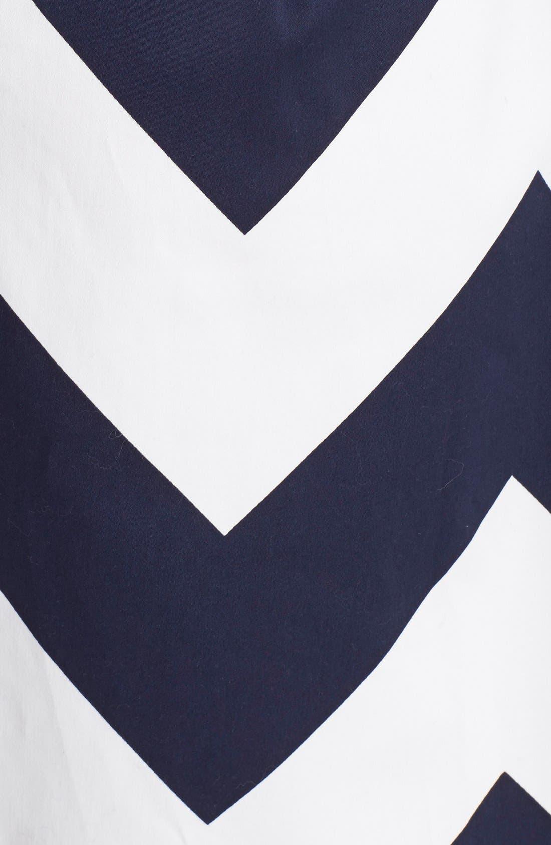 Alternate Image 3  - Milly Chevron Print A-Line Skirt