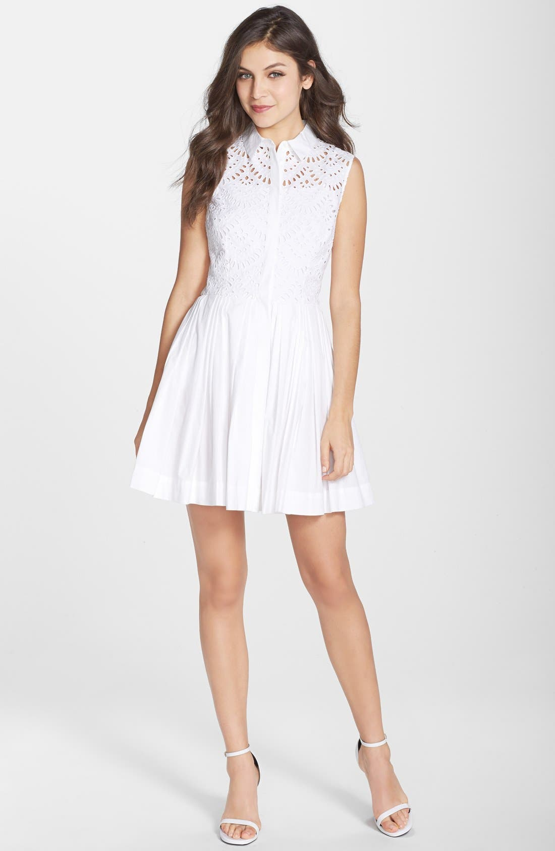 Alternate Image 3  - Cynthia Rowley Cotton Fit & Flare Shirtdress