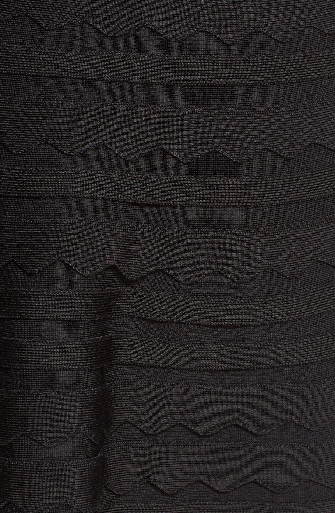 Alternate Image 3  - Herve Leger Scalloped Bandage Fit & Flare Dress
