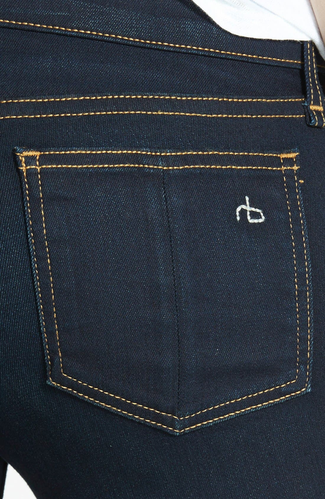 Alternate Image 3  - rag & bone/JEAN 'The Skinny' Mid Rise Jeans (Coventry)
