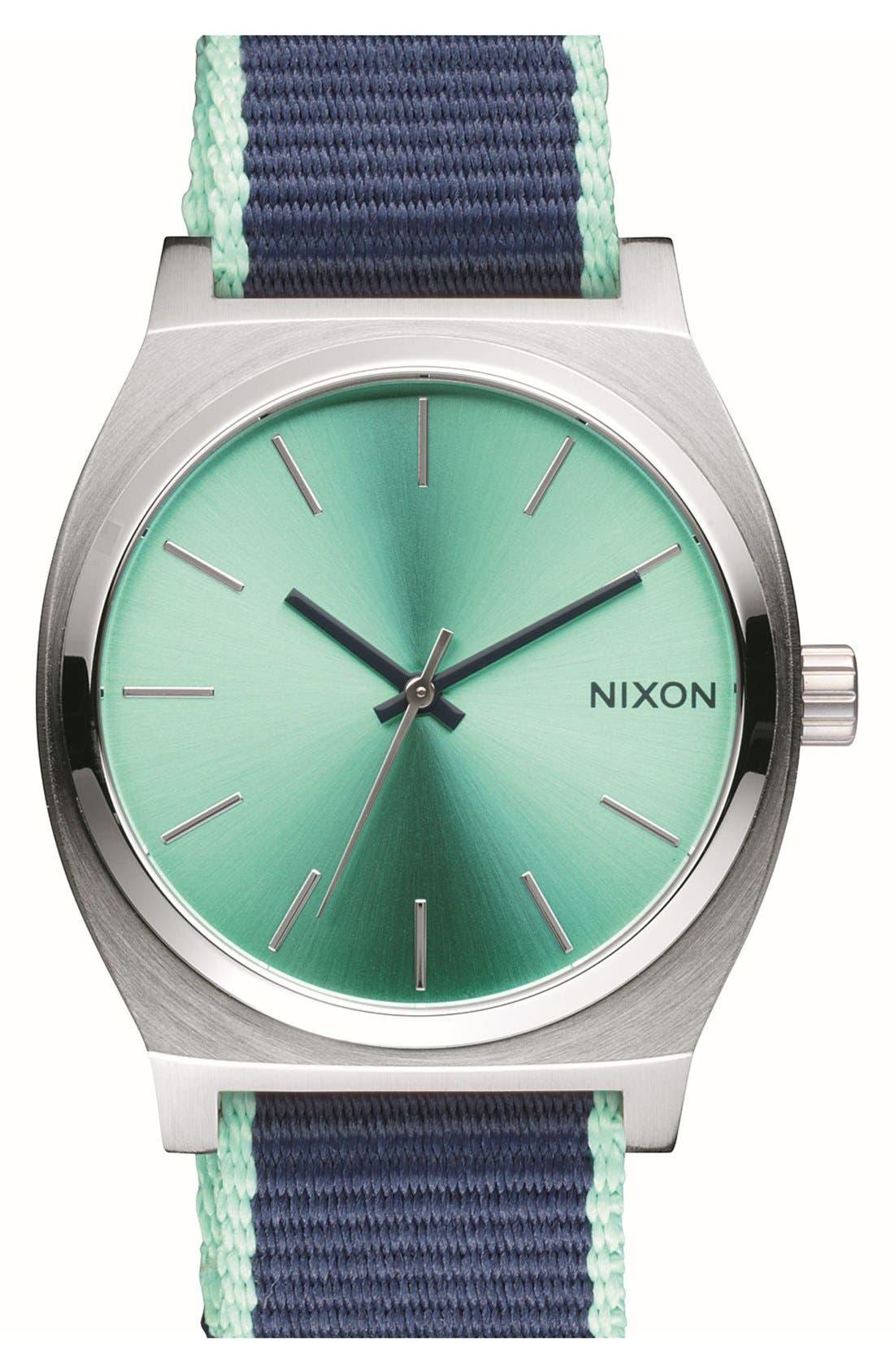 Main Image - Nixon 'Time Teller' Canvas Strap Watch, 37mm