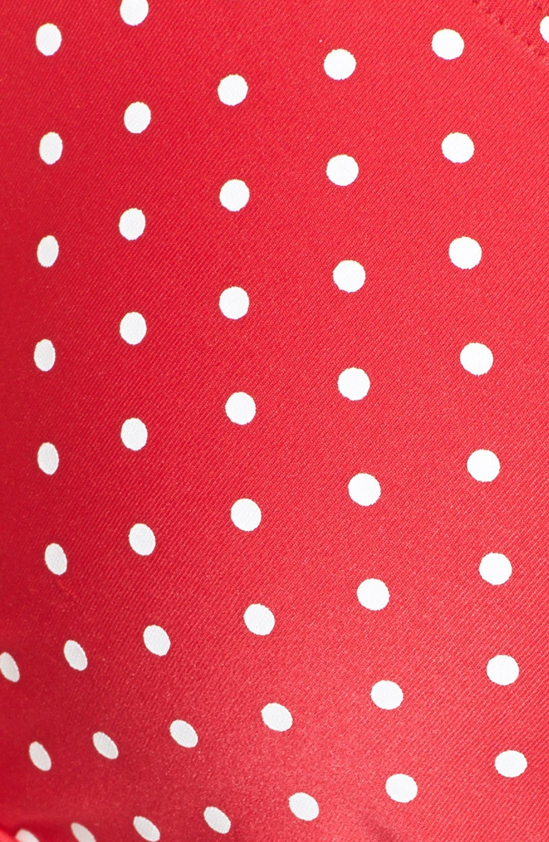 Alternate Image 5  - Betsey Johnson 'Caroline No' Polka Dot Side Tie Hipster Bikini Bottoms