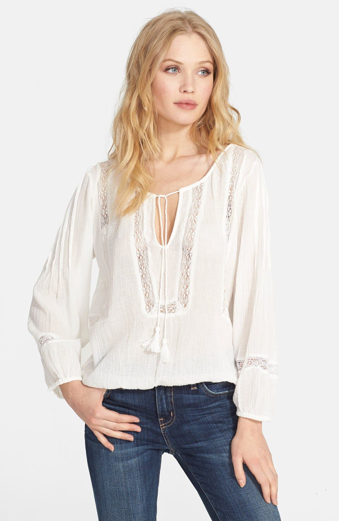 Main Image - Joie 'Arcene' Cotton Peasant Top