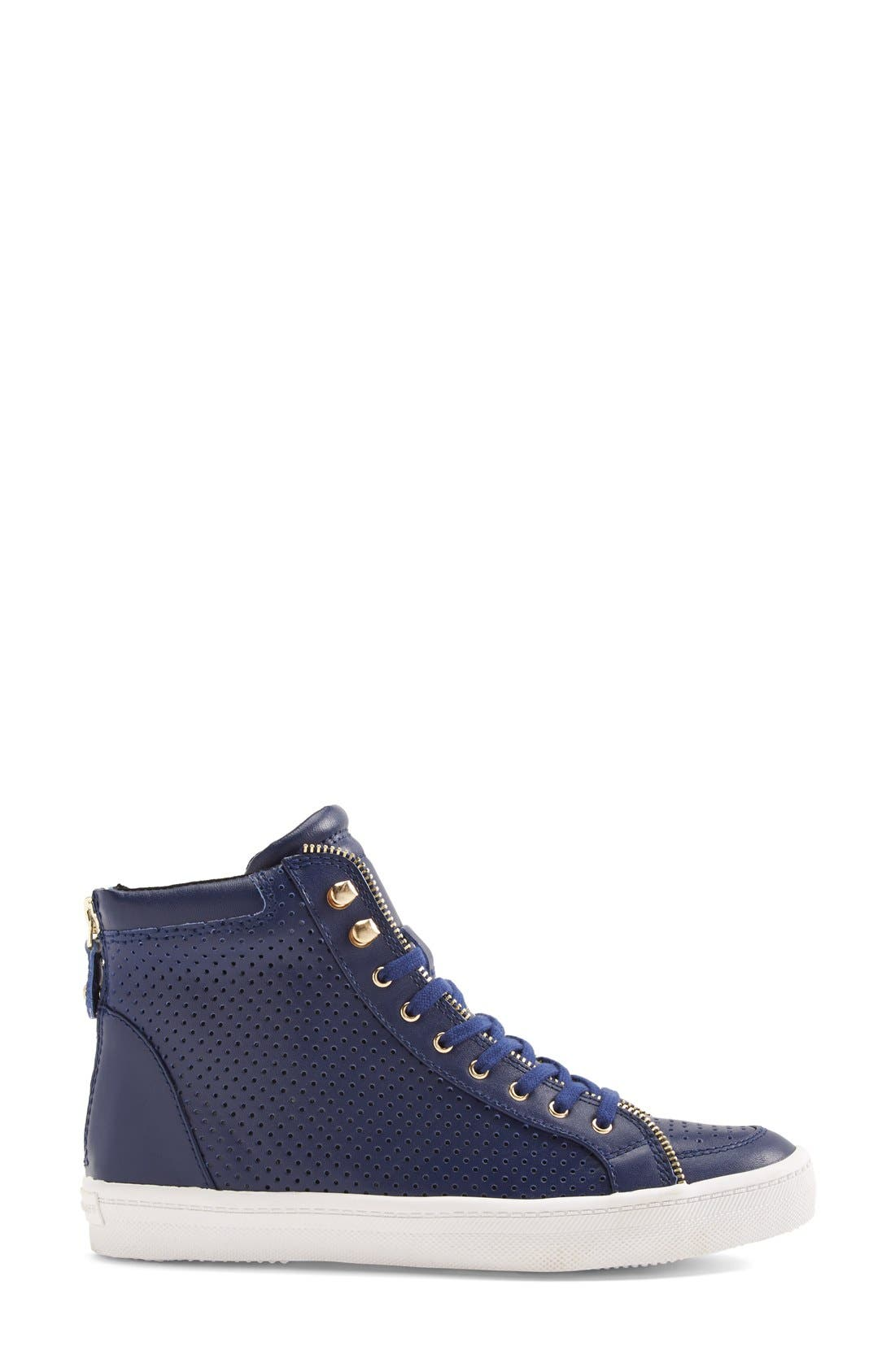 Alternate Image 4  - Rebecca Minkoff 'Sandi' Perforated & Quilted Leather High Top Sneaker (Women)