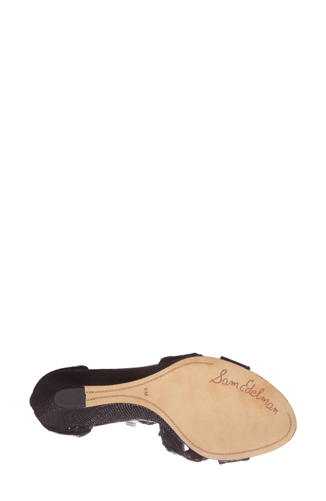 Alternate Image 4  - Sam Edelman 'Silvia' Ankle Strap Wedge Sandal (Women)