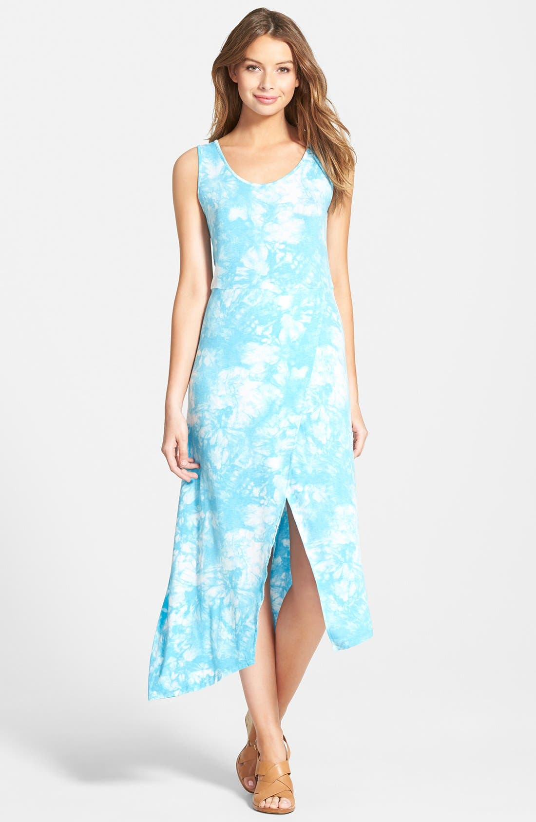 Main Image - kensie 'Burst' Tie Dye Maxi Dress