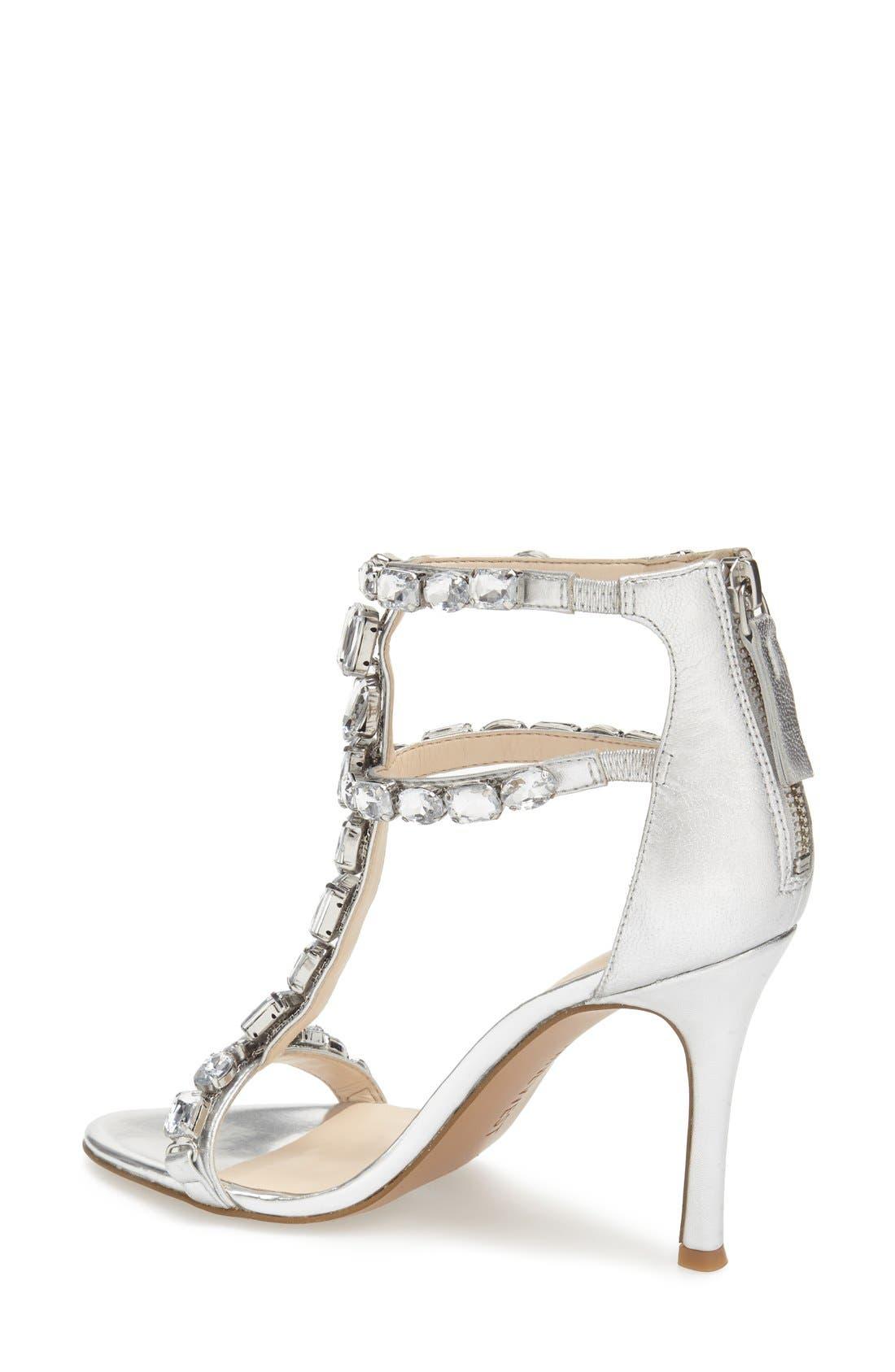 Alternate Image 2  - Nine West 'Fresh' Crystal T-Strap Sandal (Women)