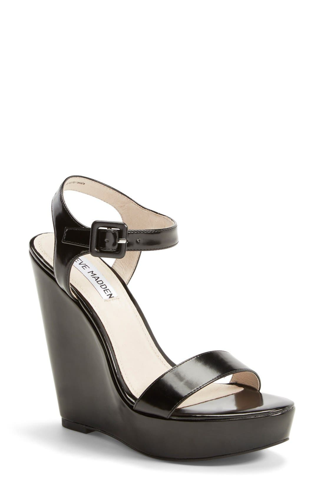 Alternate Image 1 Selected - Steve Madden 'Prestine' Wedge Sandal (Women)