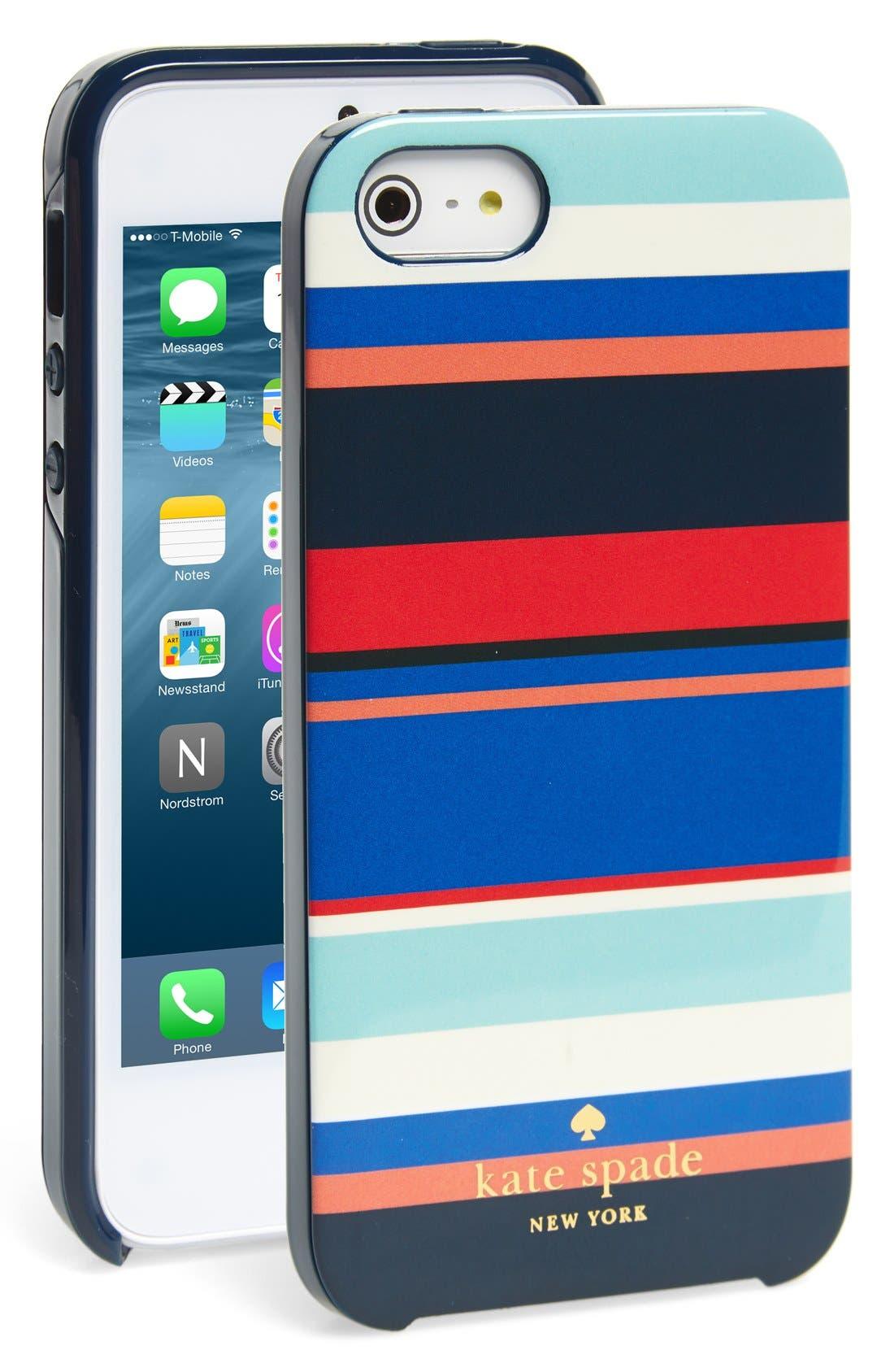 Main Image - kate spade new york 'tropical stripe' iPhone 5 & 5s case
