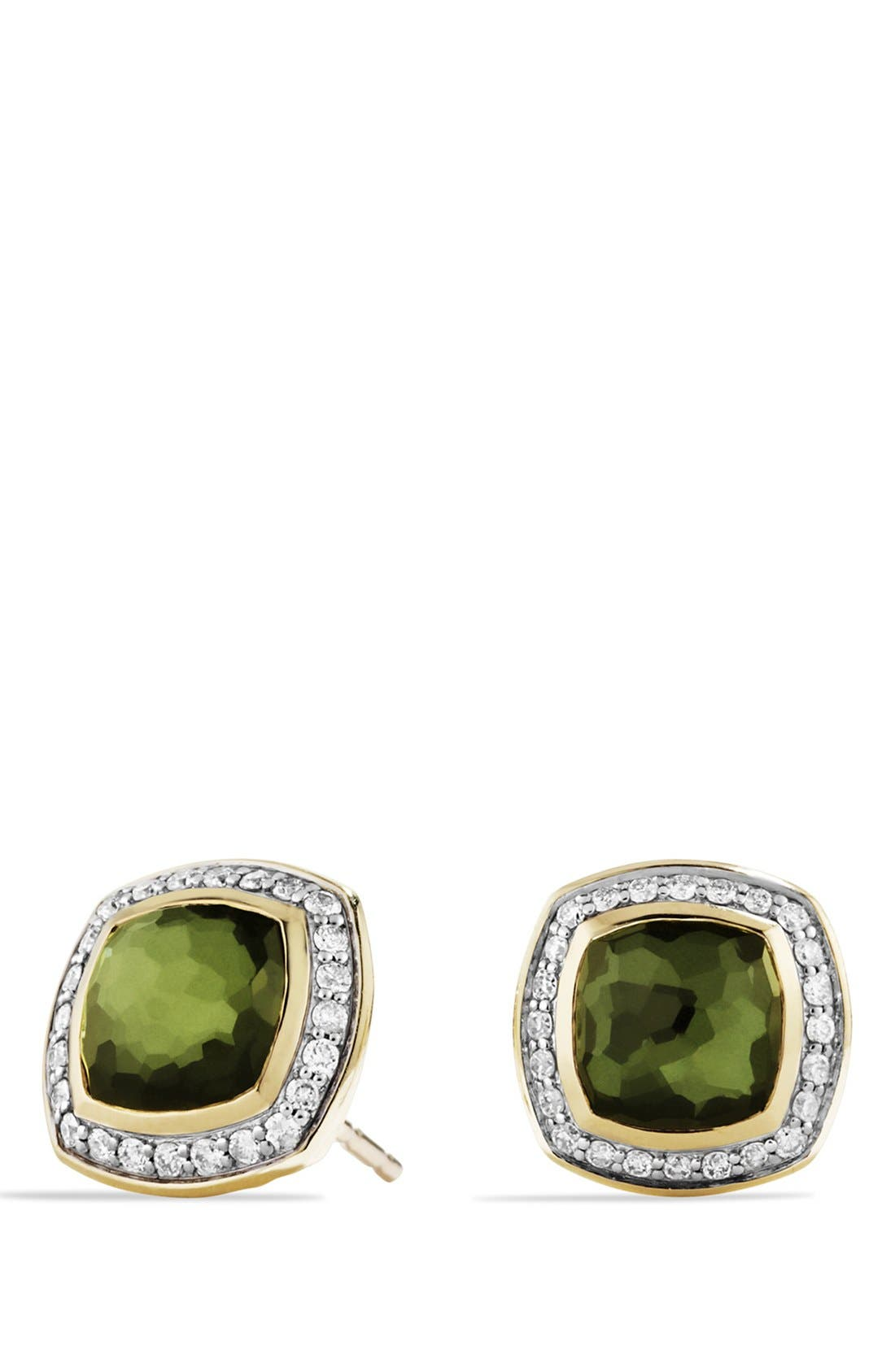 Alternate Image 1 Selected - David Yurman 'Albion' Earrings with Semiprecious Stone and Diamonds in Gold