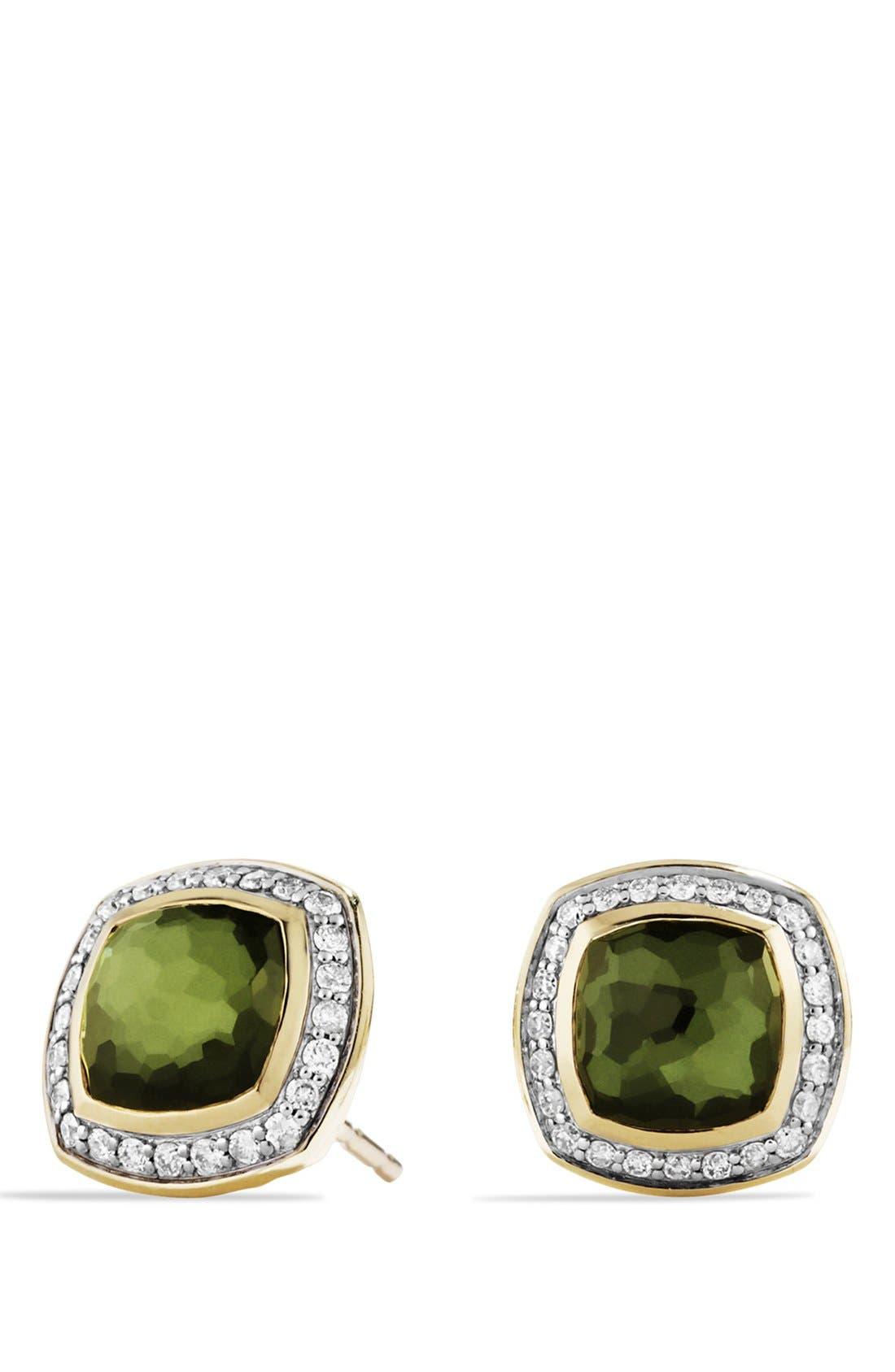 Main Image - David Yurman 'Albion' Earrings with Semiprecious Stone and Diamonds in Gold