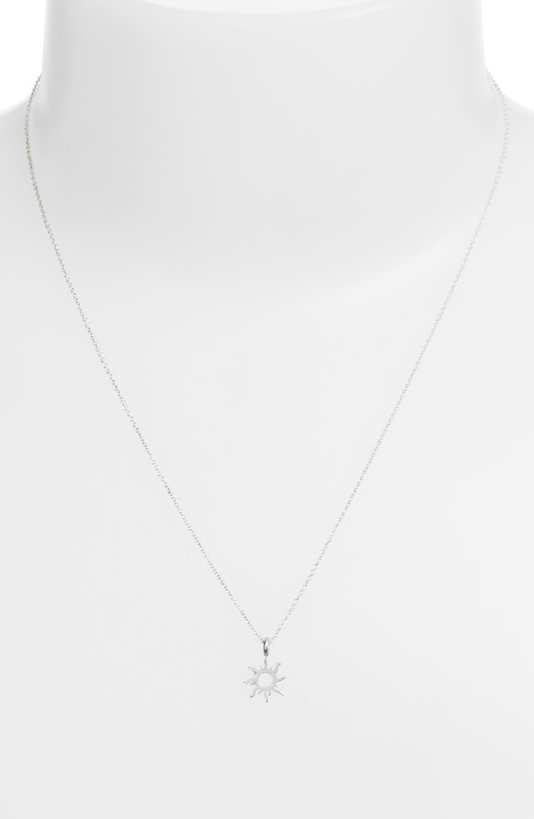 Alternate Image 2  - Dogeared 'Good Vibes Only' Sunburst Pendant Necklace