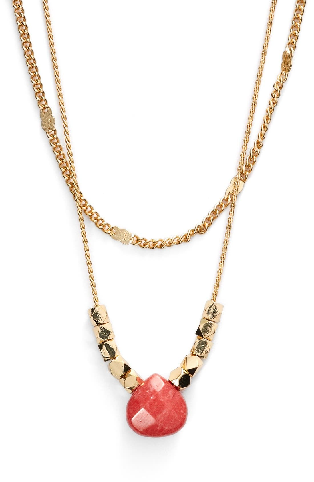 Main Image - Nordstrom 2-Row Pendant Necklace