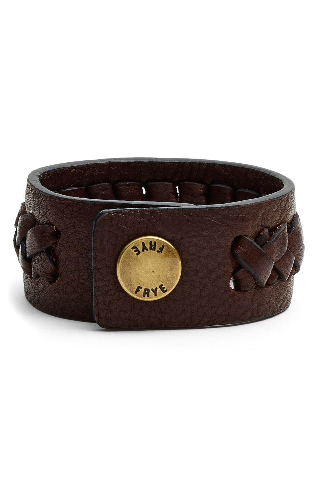 Alternate Image 2  - Frye 'Jenny' Braided Leather Bracelet