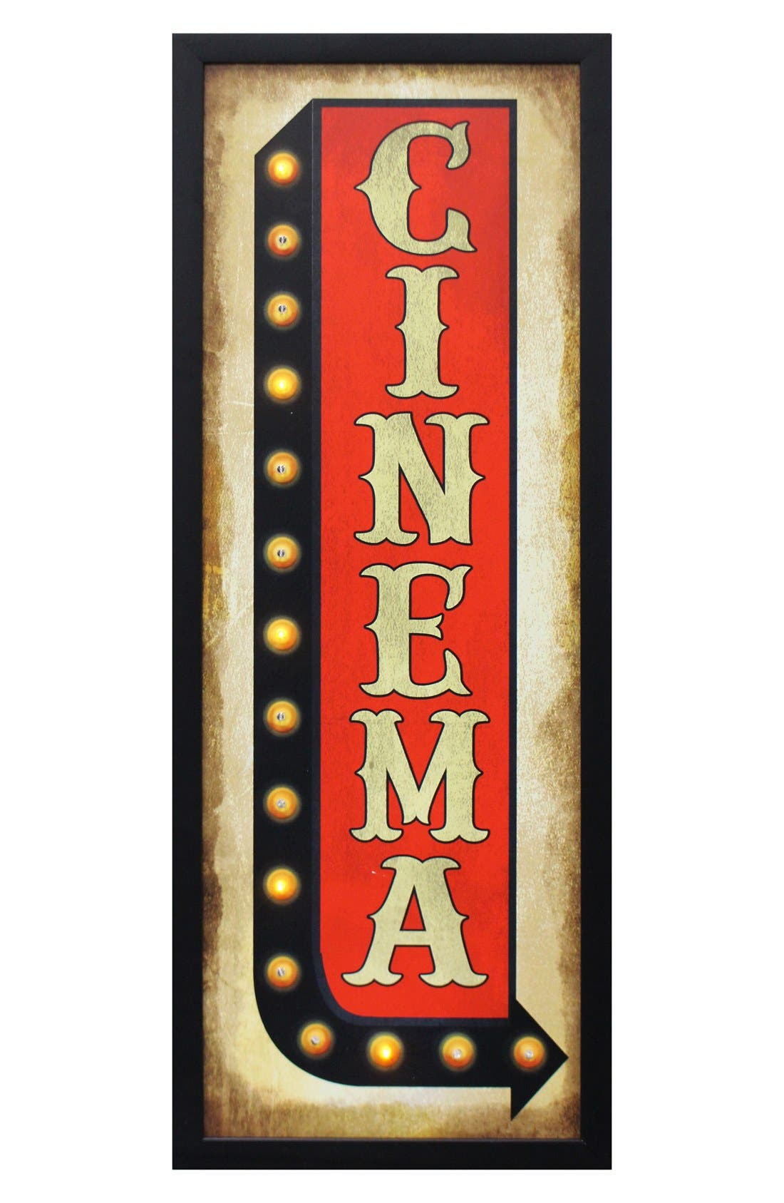 Main Image - Crystal Art Gallery 'Cinema' LED Light-Up Marquee Sign