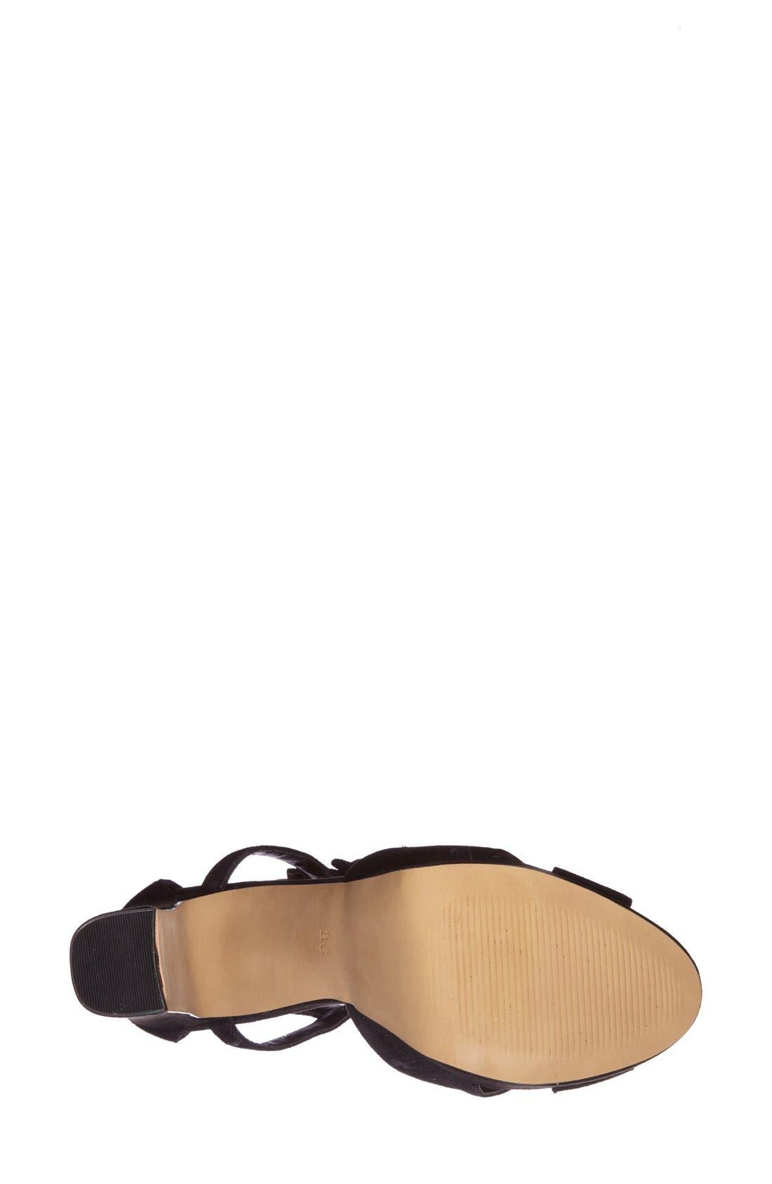 Alternate Image 4  - Topshop 'Locket' Platform Suede Sandal (Women)