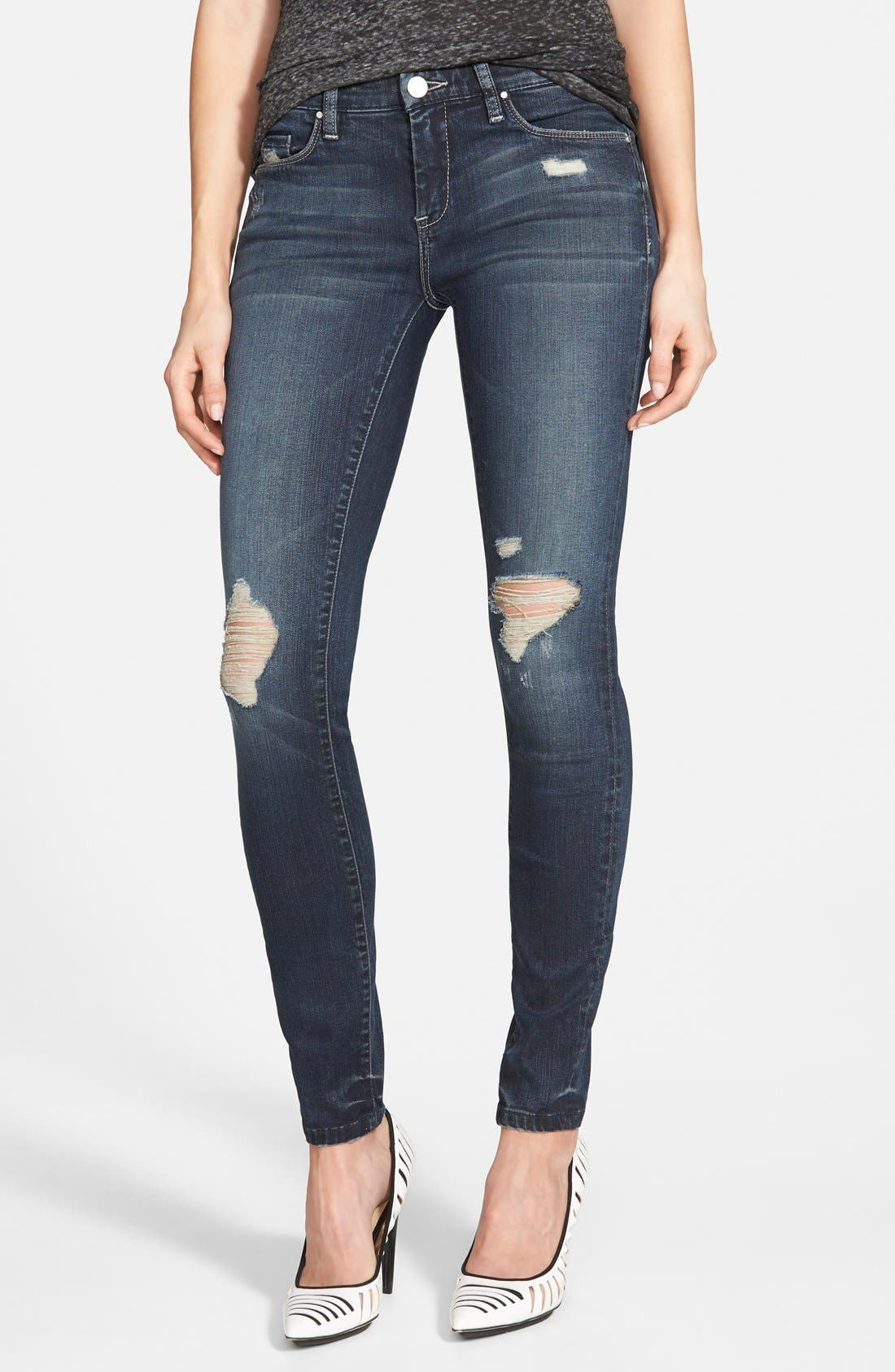 Alternate Image 1 Selected - BLANKNYC 'Hearing Voices' Skinny Jeans (Blue)