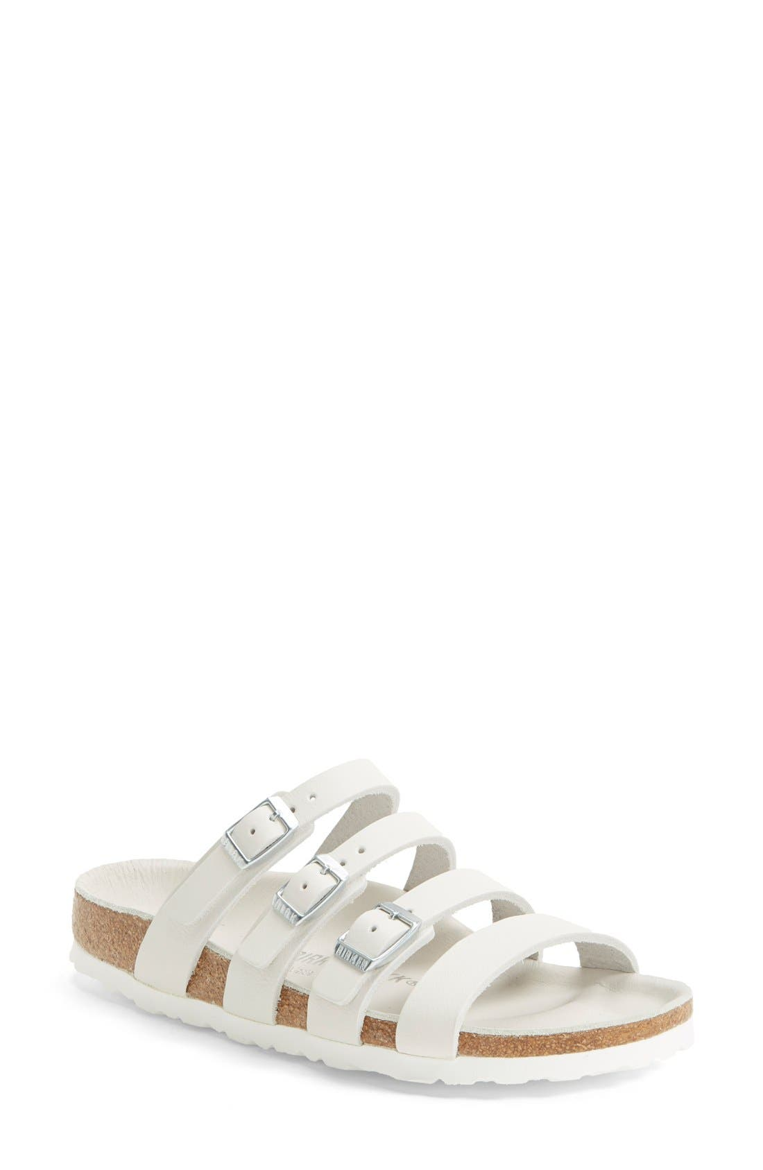 Alternate Image 1 Selected - Birkenstock 'Delmas' Leather Sandal (Women)